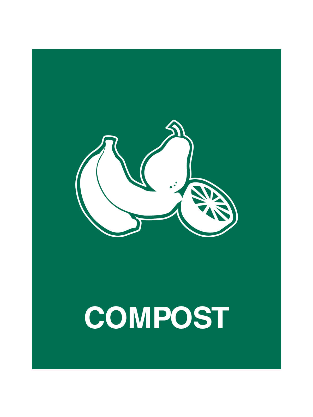 WASTE WATCHER - Sign - Compost - Dark Green