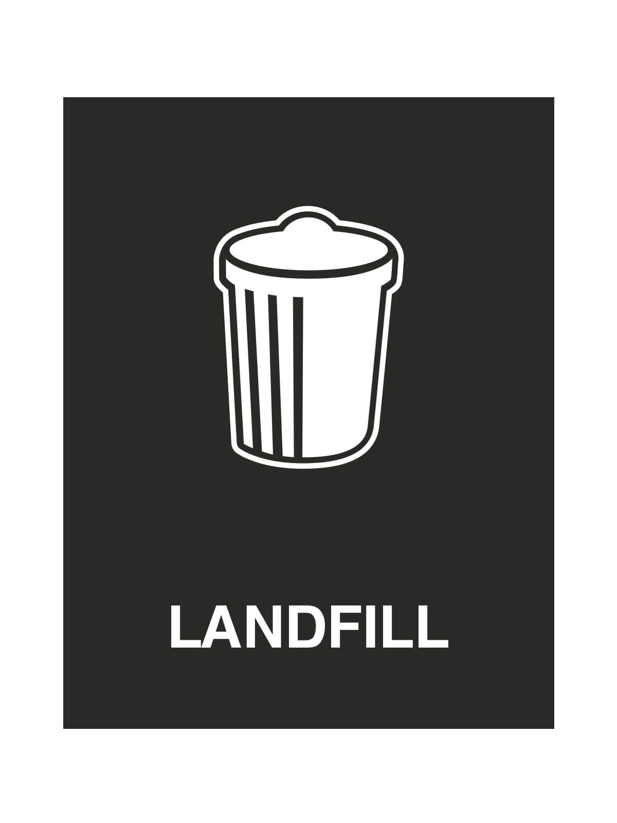 WASTE WATCHER - Sign - Landfill - Black