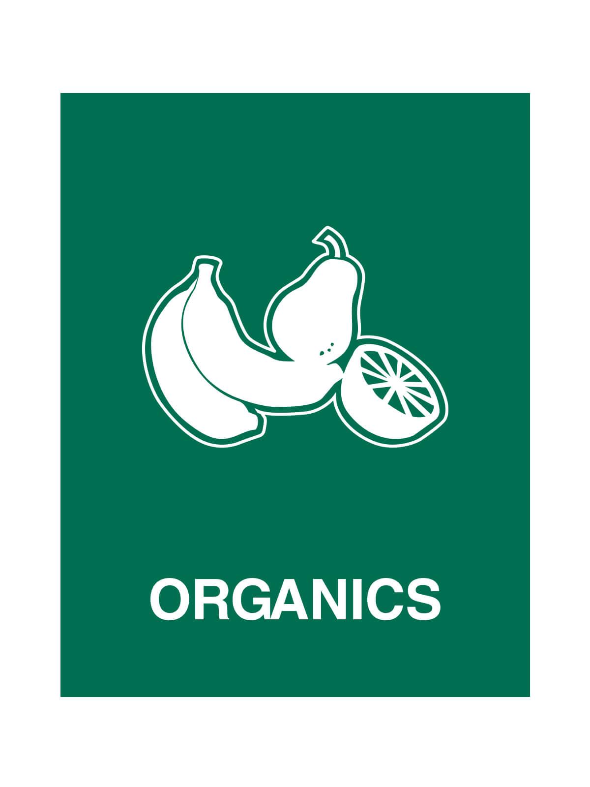 WASTE WATCHER - Sign - Organics - Dark Green