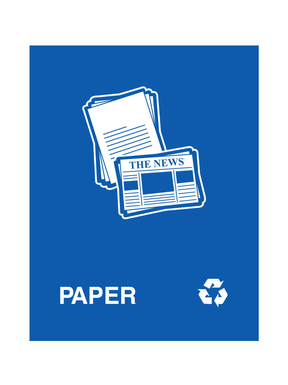 WASTE WATCHER - Sign - Paper - Royal Blue