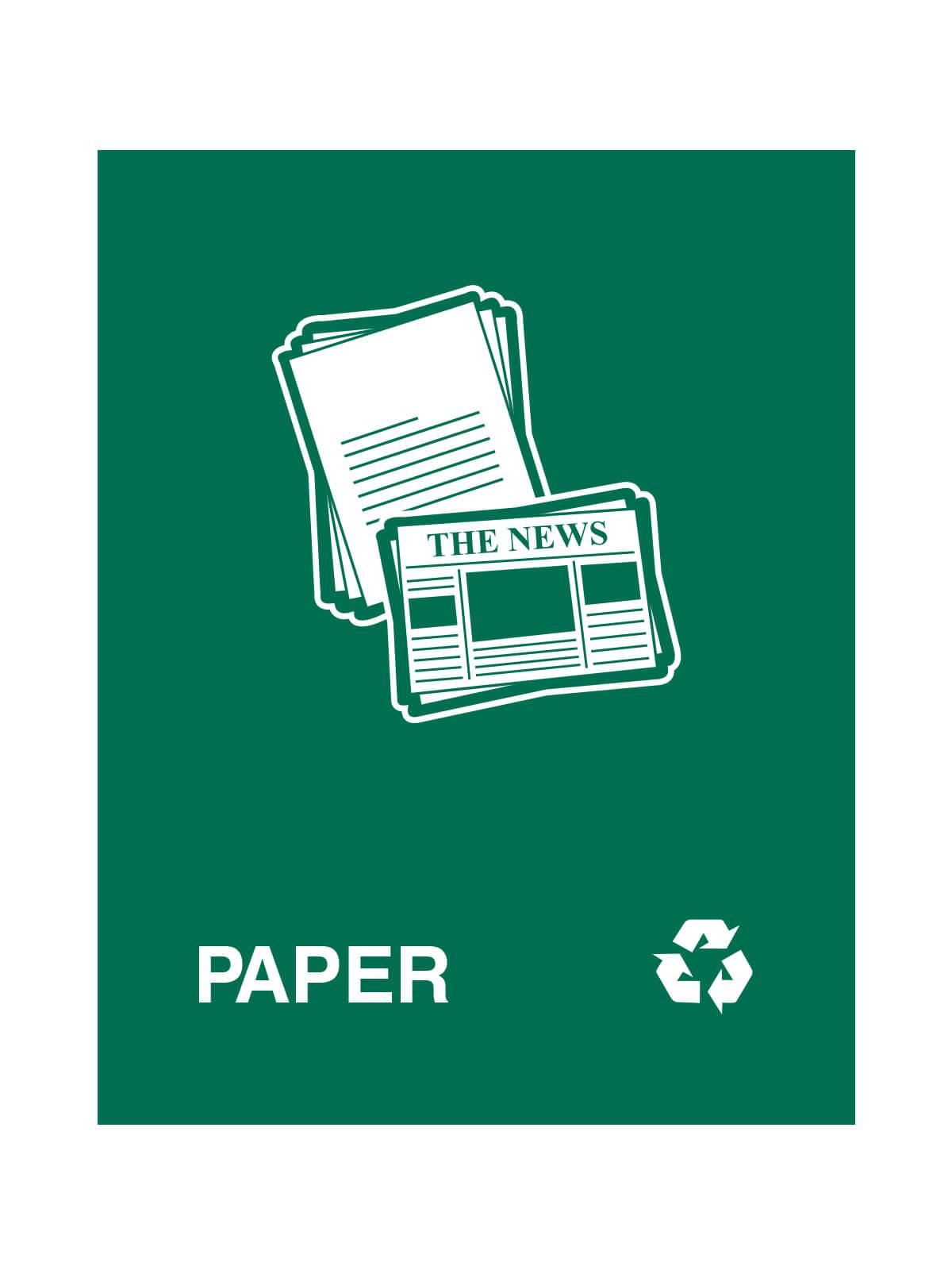WASTE WATCHER - Sign - Paper - Dark Green