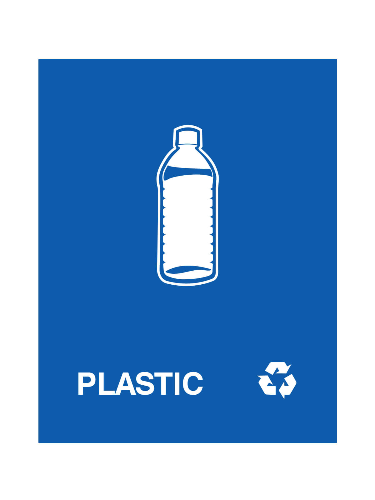 WASTE WATCHER - Sign - Plastic - Royal Blue