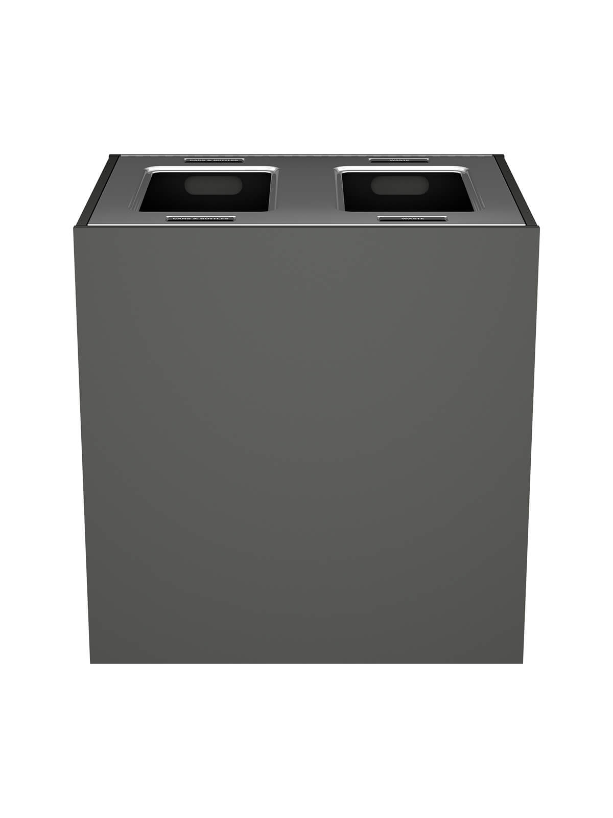 ARISTATA - Double - Xl - Cans & Bottles-Waste - Full - Slate-Stainless Steel