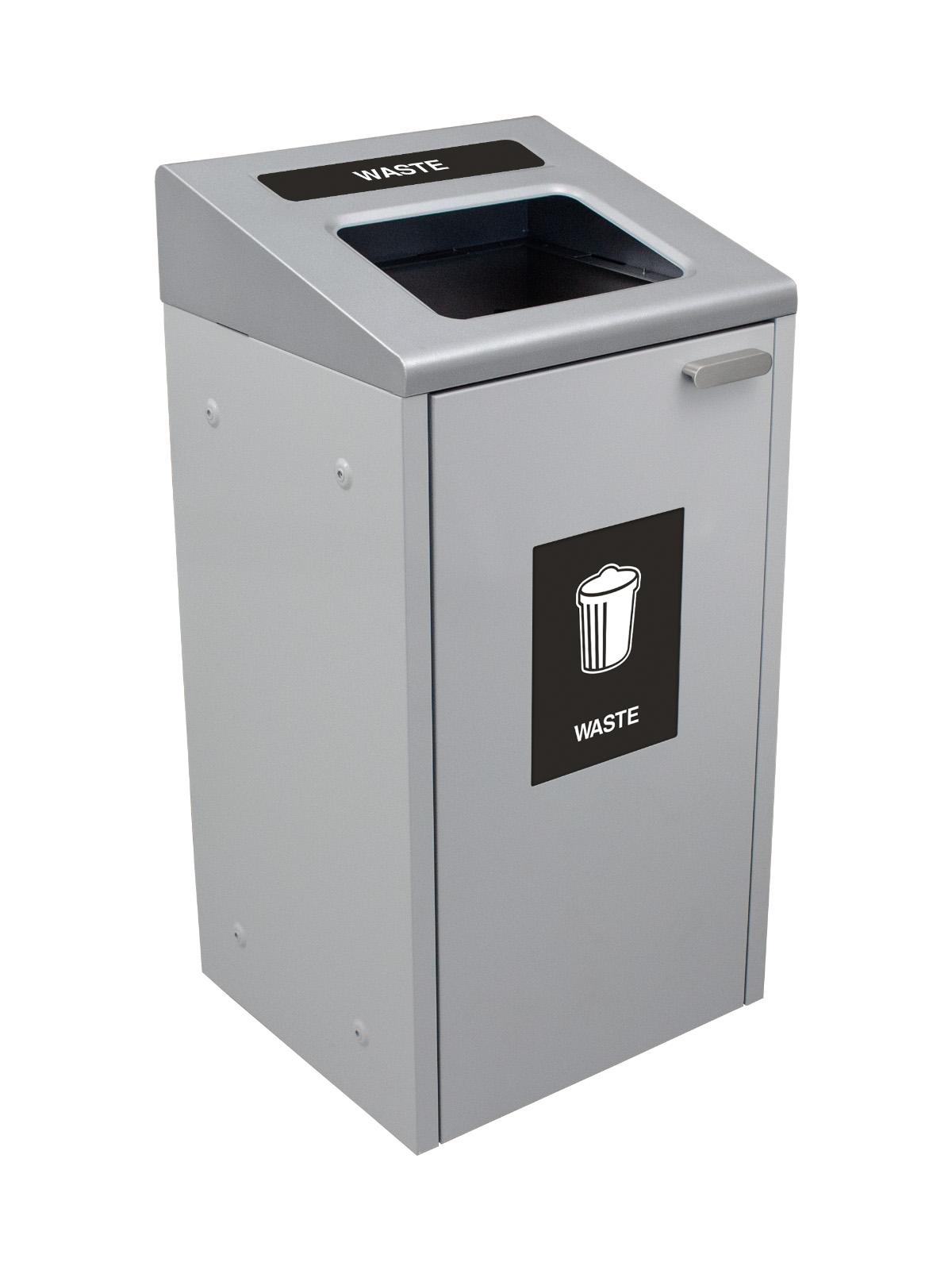 IKONA - Single - Waste  - Full - Grey-Silver