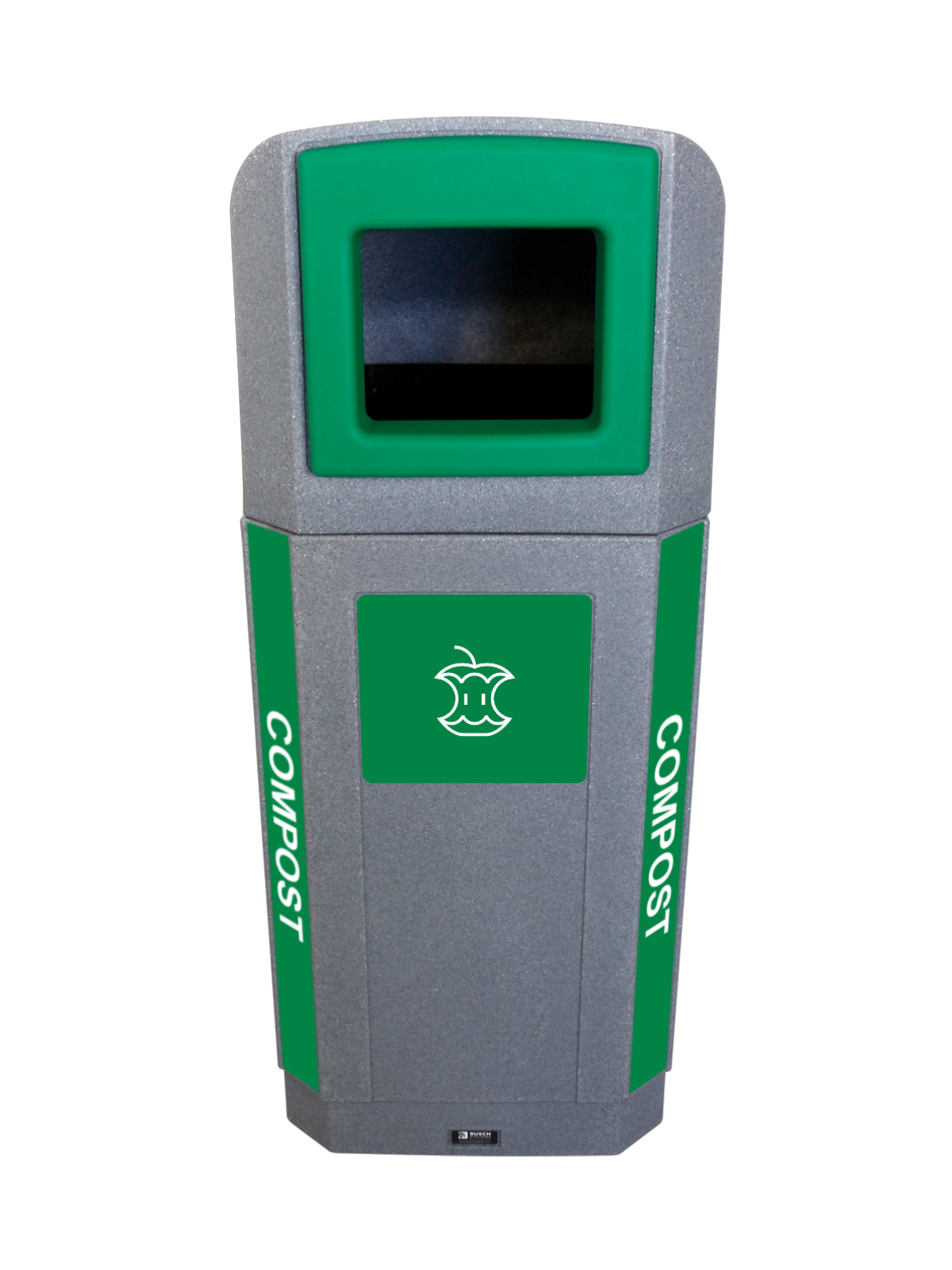 OCTO - Single - Outdoor - Compost  - Full - Greystone-Green