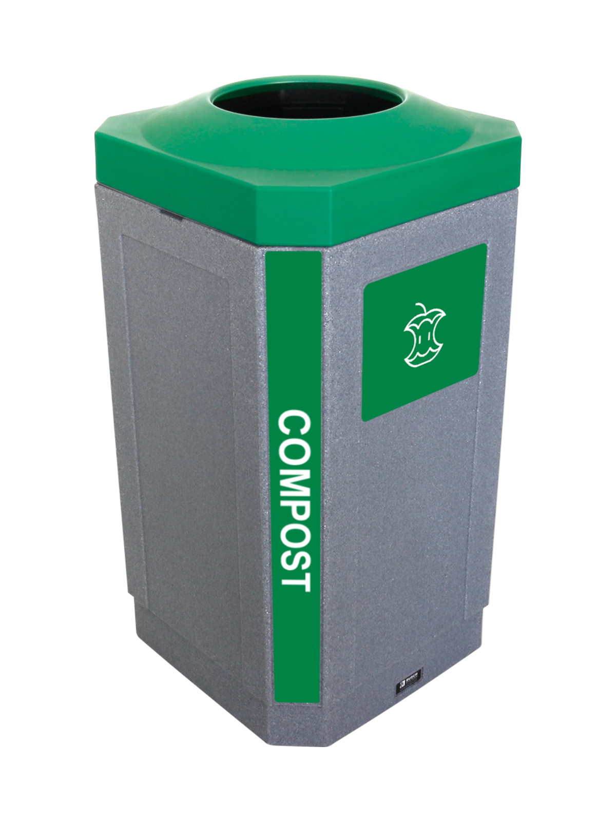 OCTO - Single - Indoor - Compost - Full - Greystone-Green