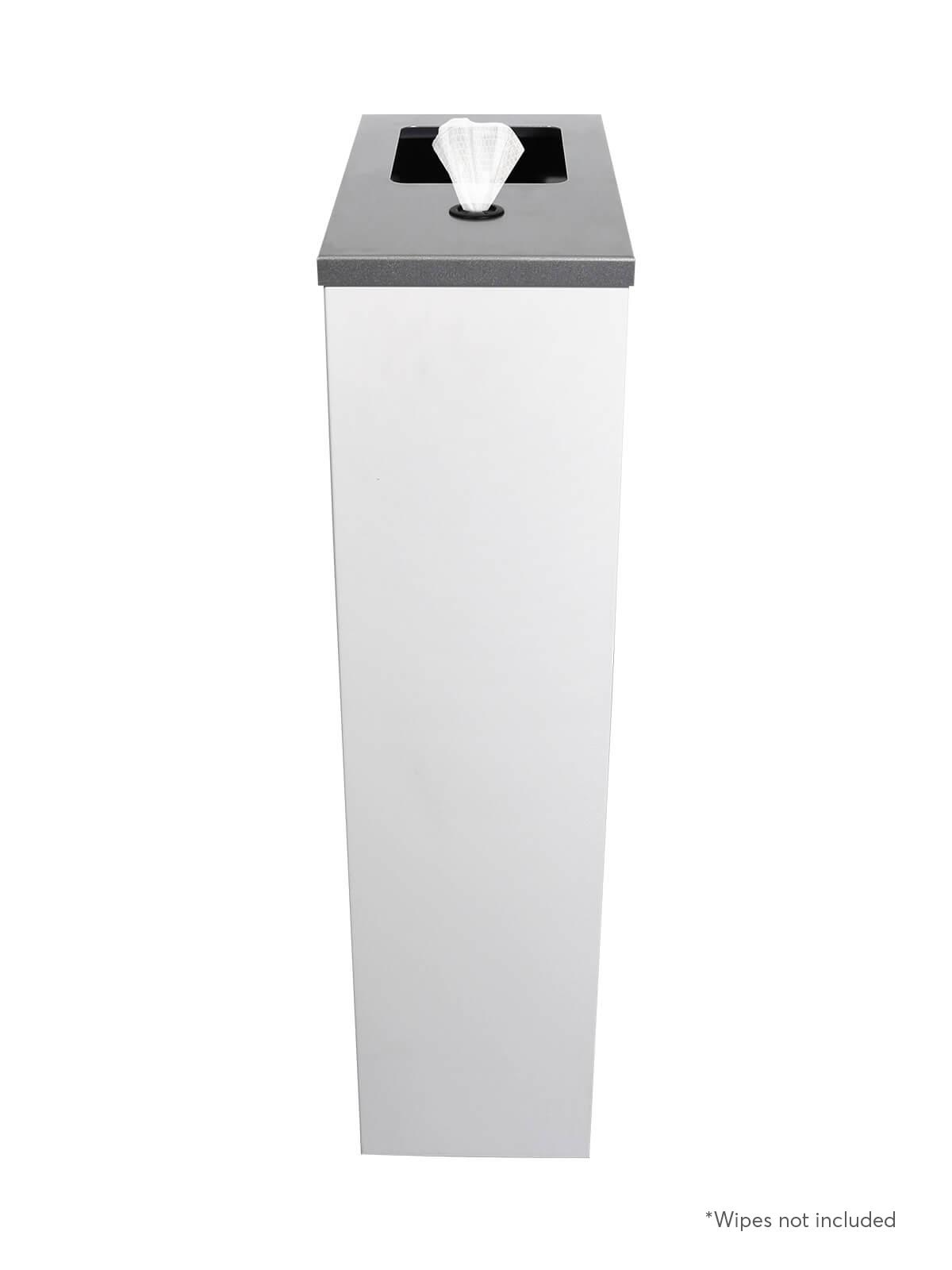 SPECTRUM WASTE & WIPES - Single - Wipes-Full - White-Silver Sparkle