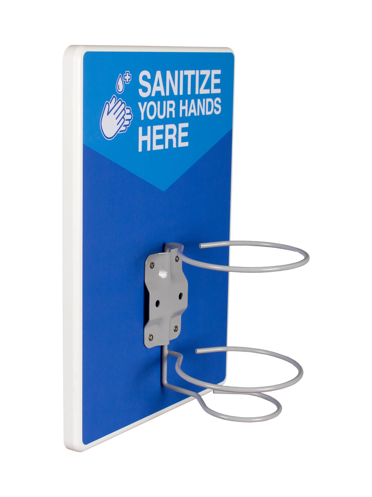 COMPANION - Single - Sanitize Your Hands Here - Grey-White