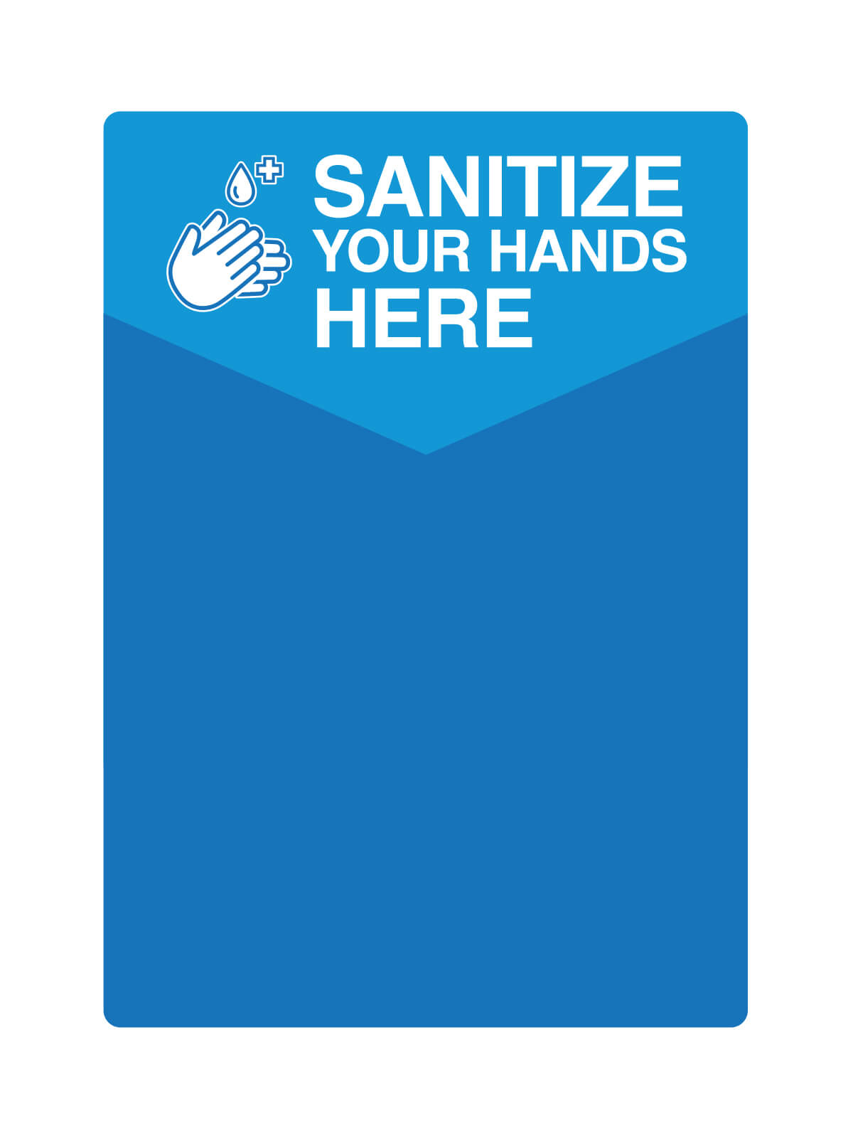 COMPANION - Label - Sanitize Your Hands Here - Blue-White title=