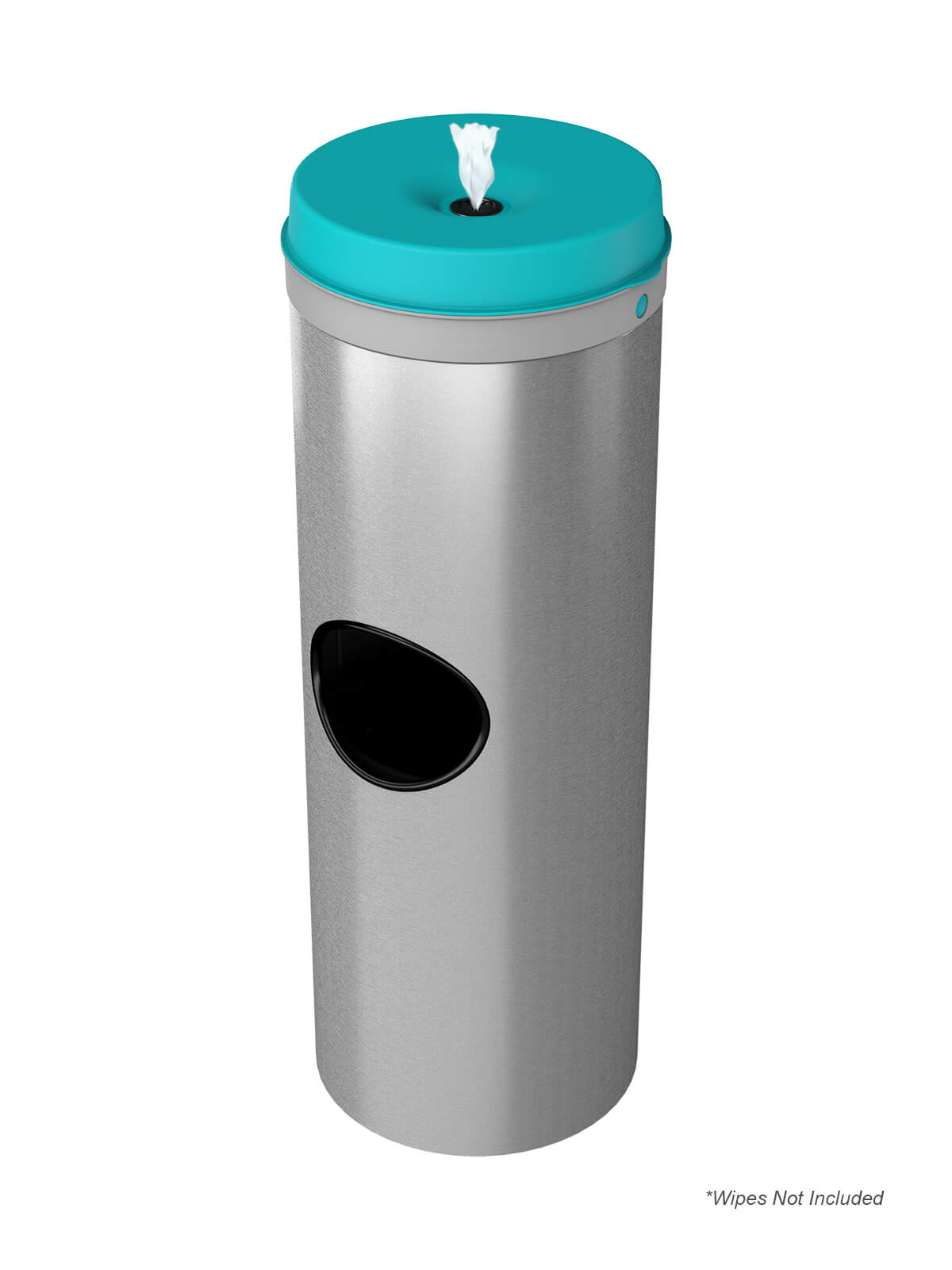 CLEANLI GO - Single - Full-Wipes - Stainless Steel-Grey-Teal