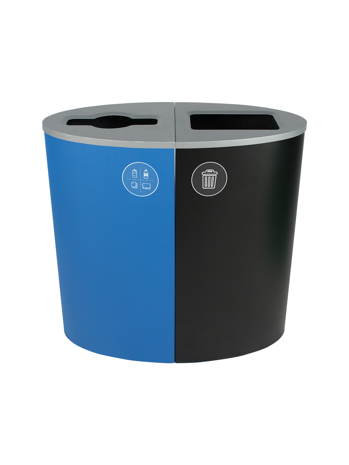 SPECTRUM - Double - Rhode Island Compliant - Mixed Recyclables-Waste - Mixed-Full - Blue-Black