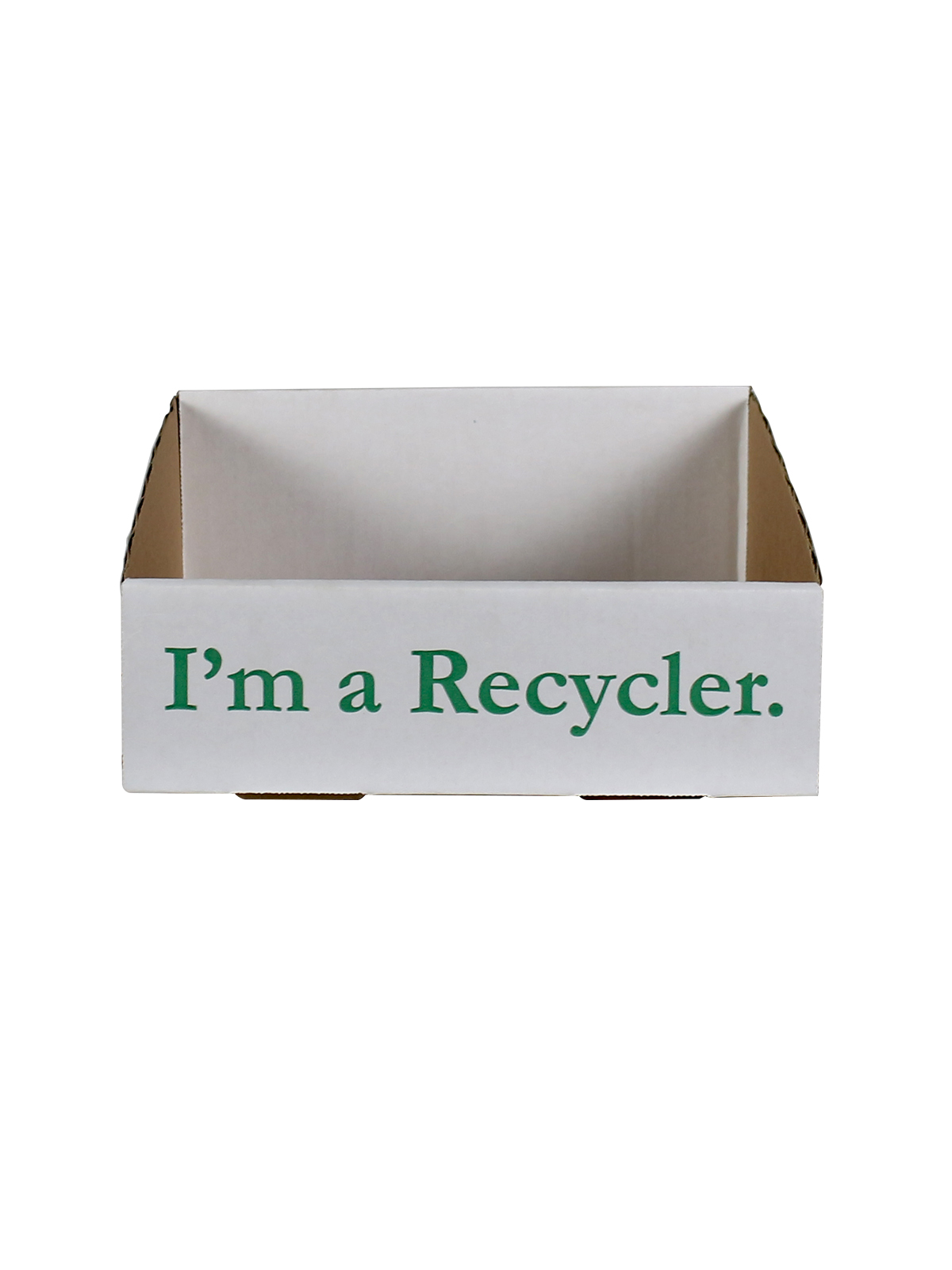 RECYCLING TRAY - 10 PACK - WHITE - I'M A RECYCLER