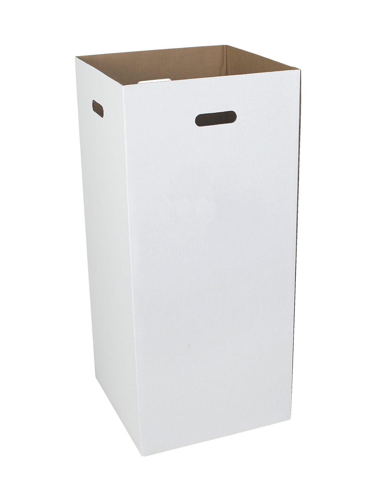 CORRUGATED WASTE BIN - 10 PACK - 28 GALLON - WHITE