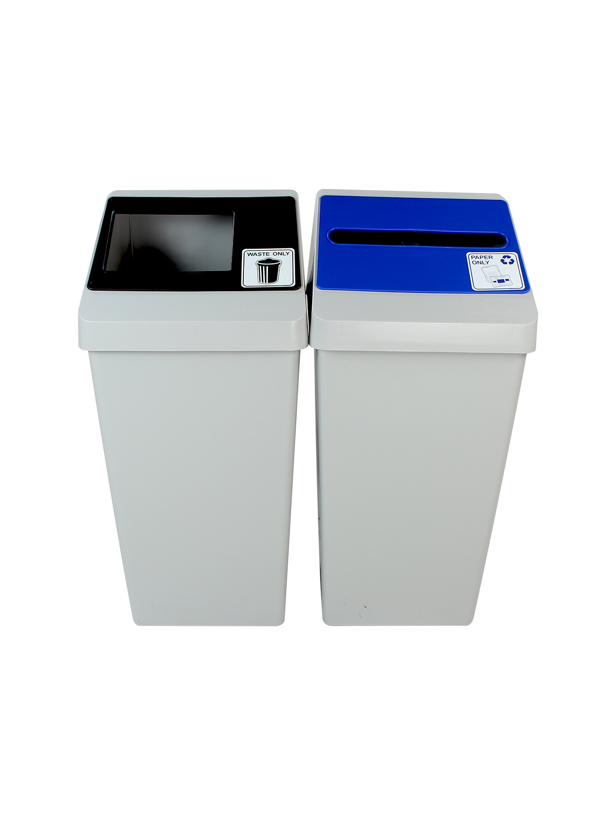 SMART SORT - DOUBLE - SLOT | FULL - GREY | BLUE |BLACK - PAPER ONLY | WASTE ONLY title=