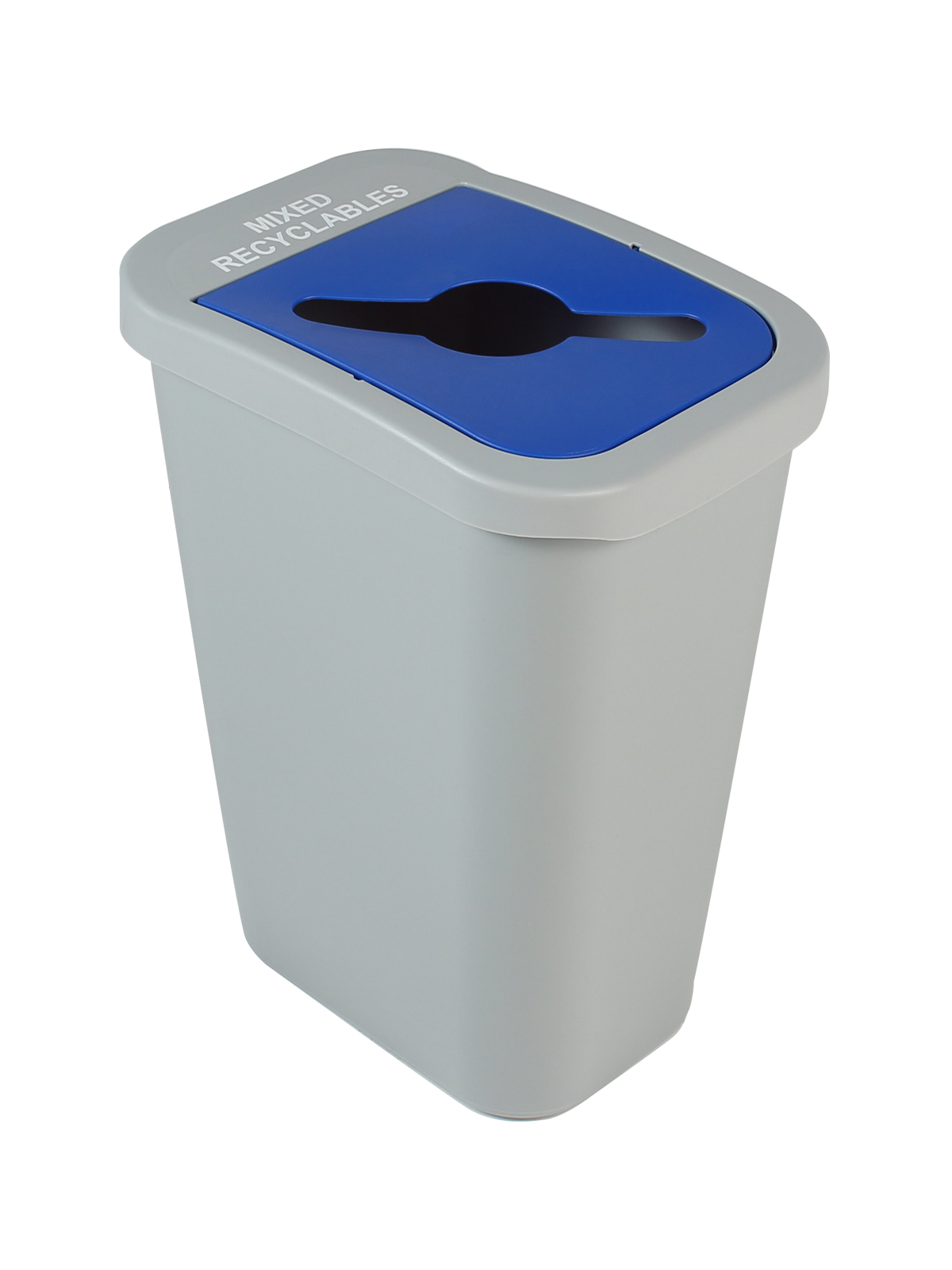 BILLI BOX - Single - 10 G - Mixed Recyclables - Mixed - Grey-Blue