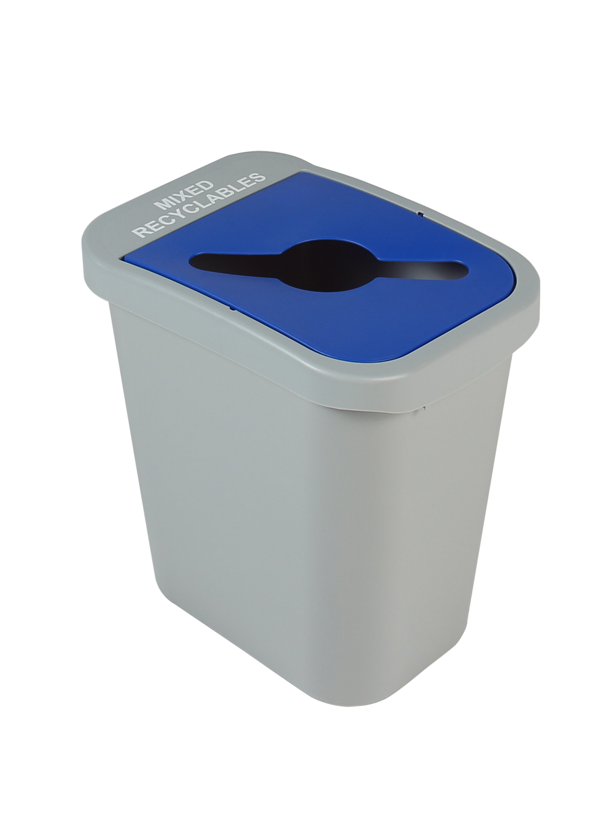 BILLI BOX - Single - 7 G - Mixed Recyclables - Mixed - Grey-Blue title=