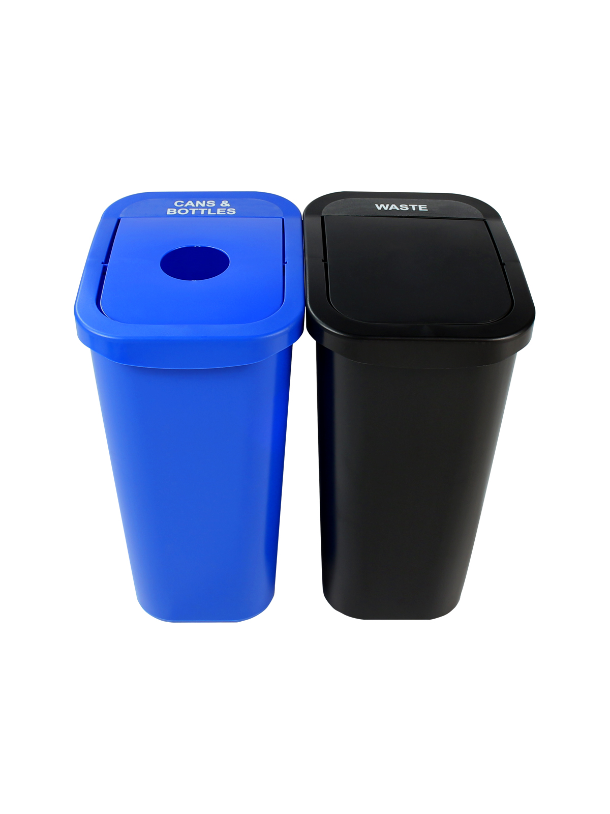 BILLI BOX - DOUBLE 10 G - CIRCLE | SWING - BLUE | BLACK - CANS & BOTTLES | WASTE title=