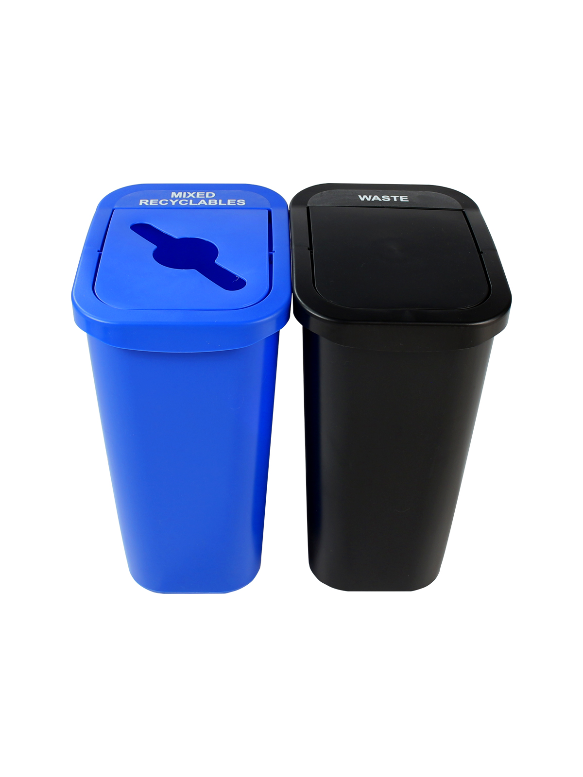 BILLI BOX - Double - 10 G - Mixed Recyclables-Waste - Mixed-Swing - Blue-Black