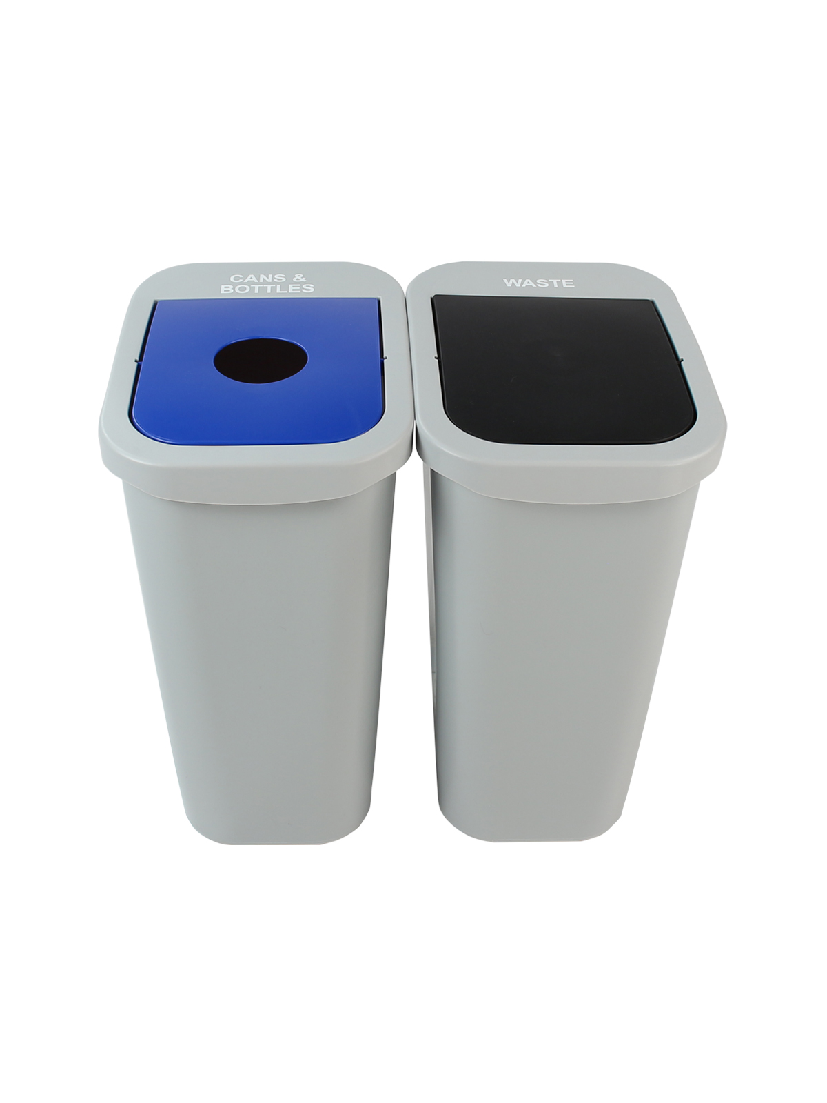BILLI BOX - Double - 10 G - Cans & Bottles-Waste - Circle-Swing - Grey-Blue-Black