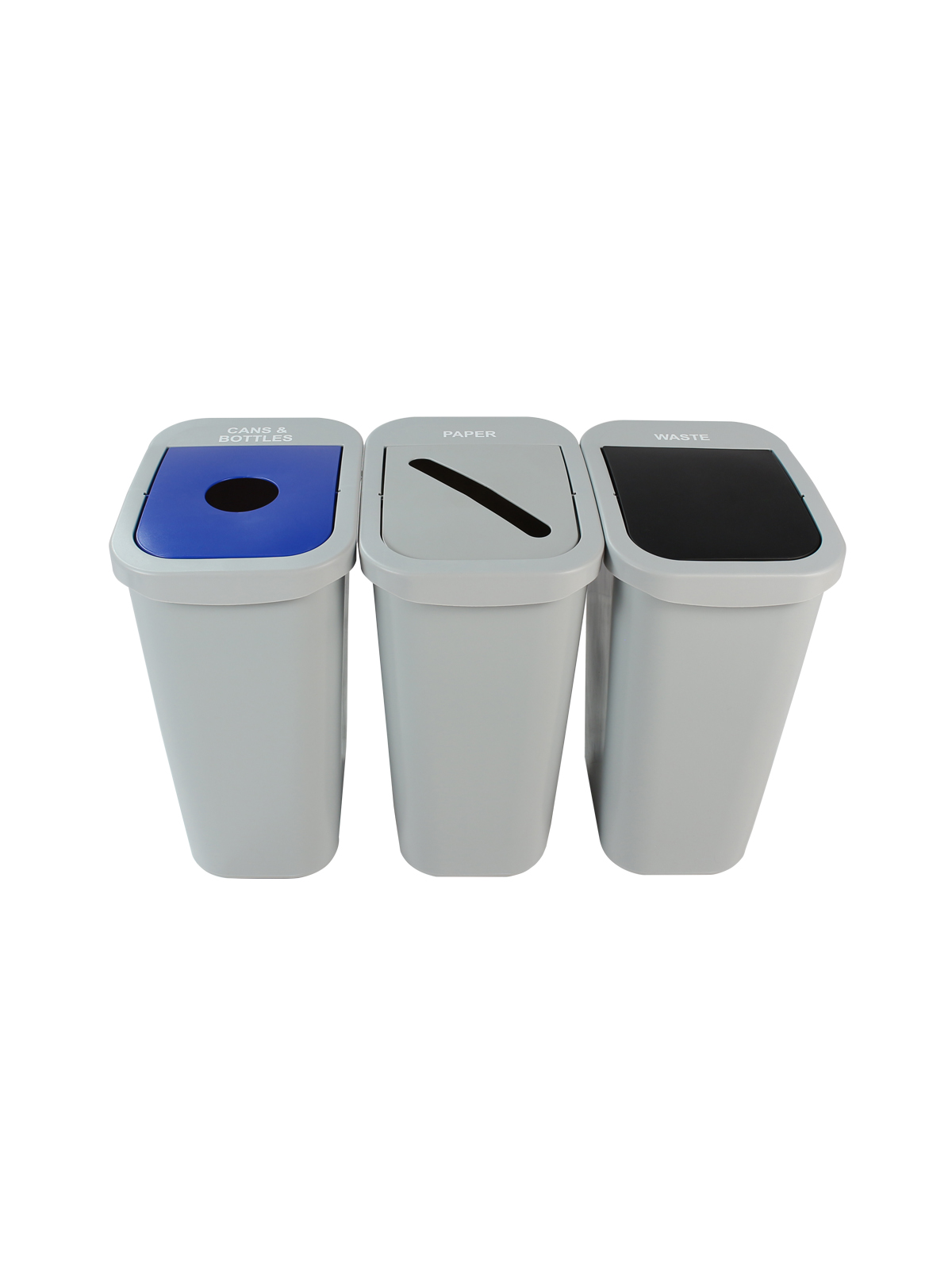 BILLI BOX - TRIPLE 10 G - CIRCLE | SLOT | SWING - GREY | BLUE | GREY | BLACK - CANS & BOTTLES | PAPER | WASTE