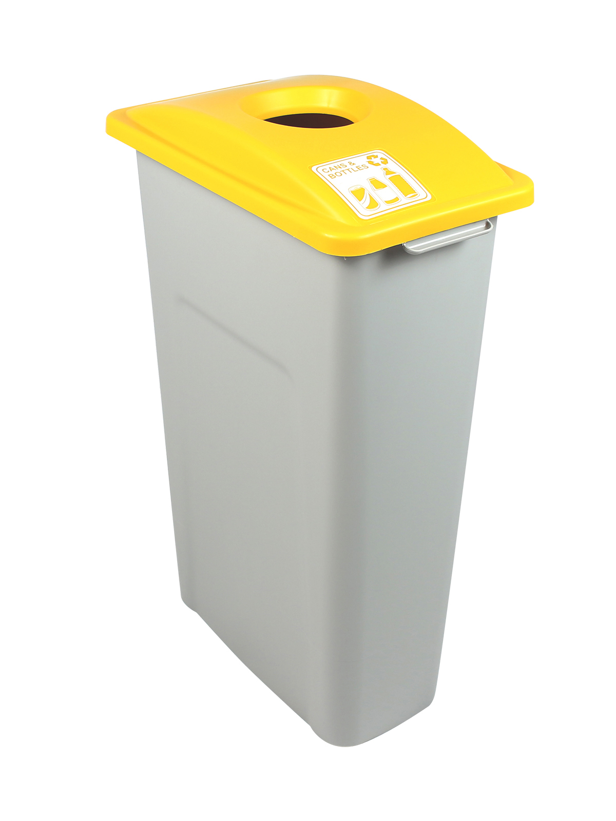 WASTE WATCHER - Single - Cans & Bottles - Circle - Grey-Yellow