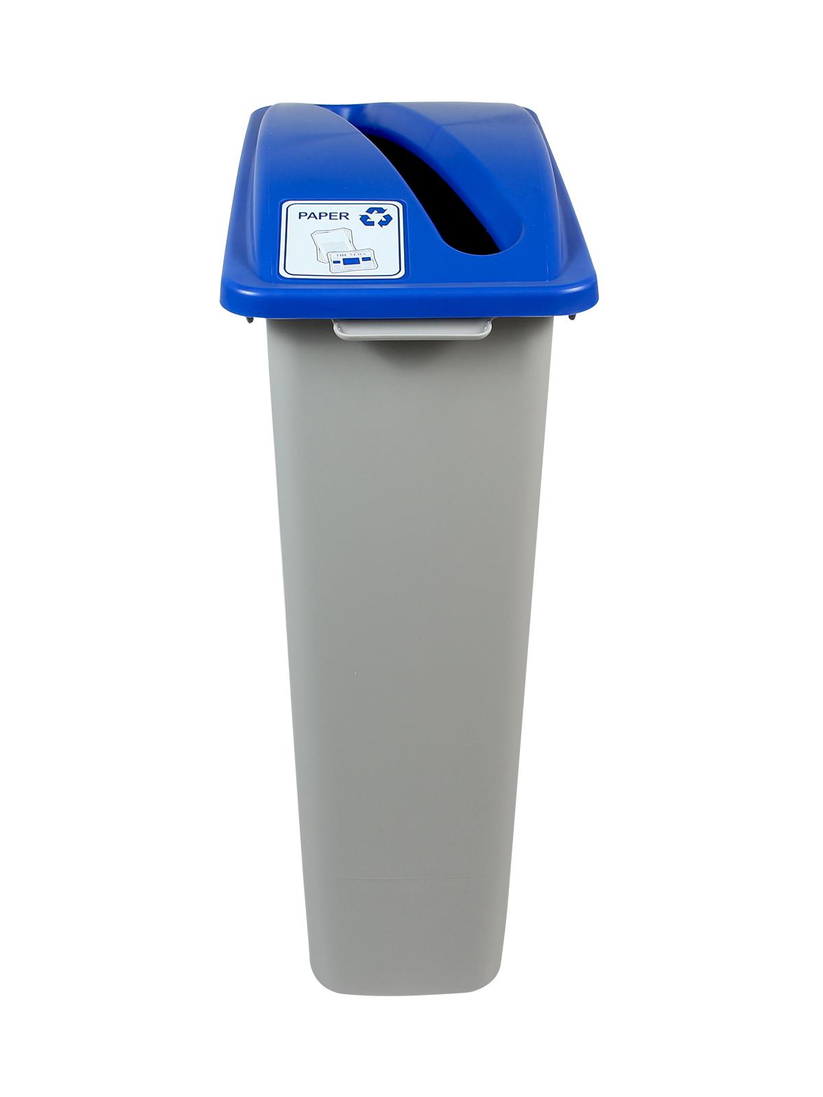 WASTE WATCHER - Single - Paper - Slot - Grey-Blue