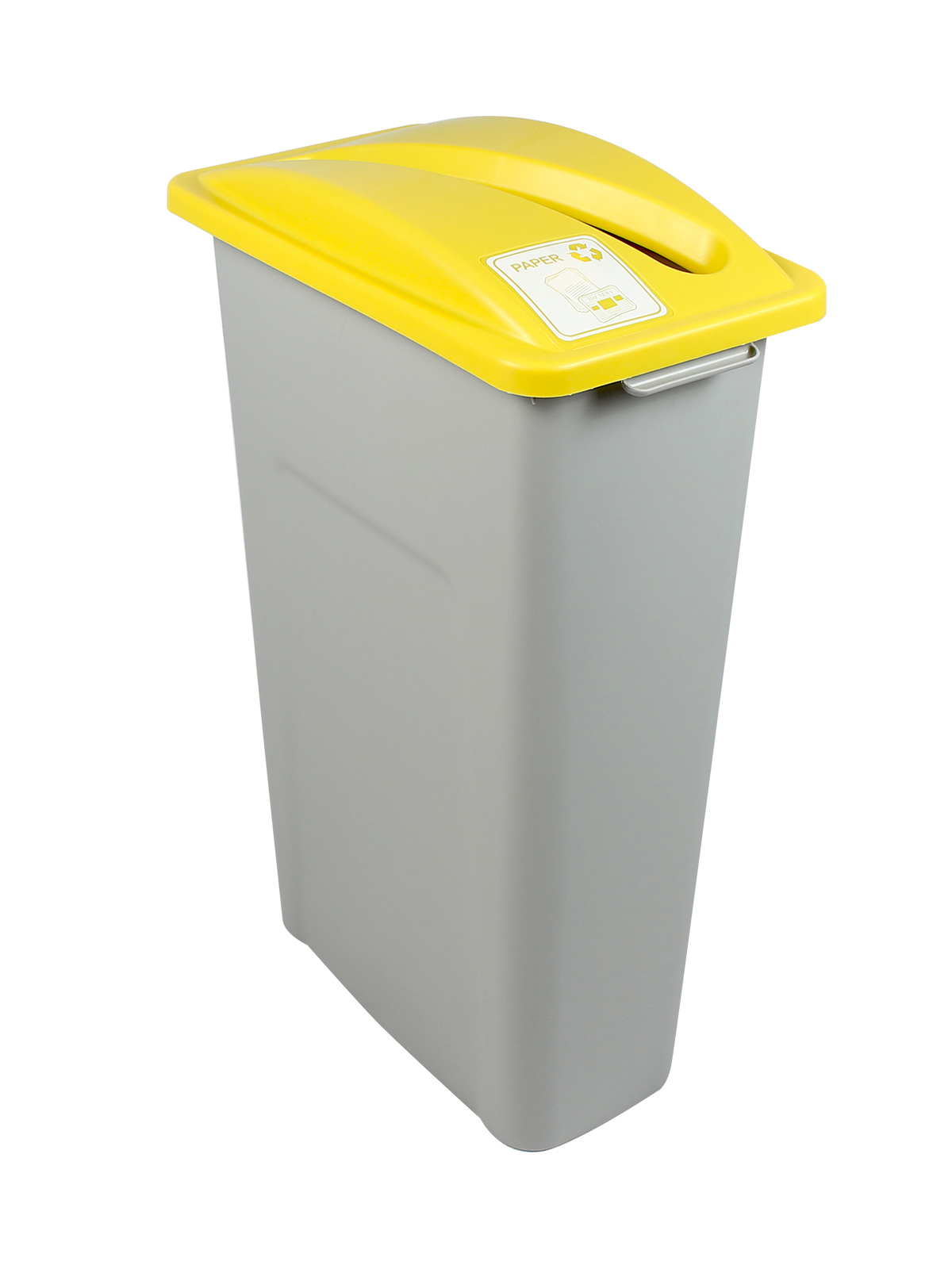 WASTE WATCHER - Single - Paper - Slot - Grey-Yellow