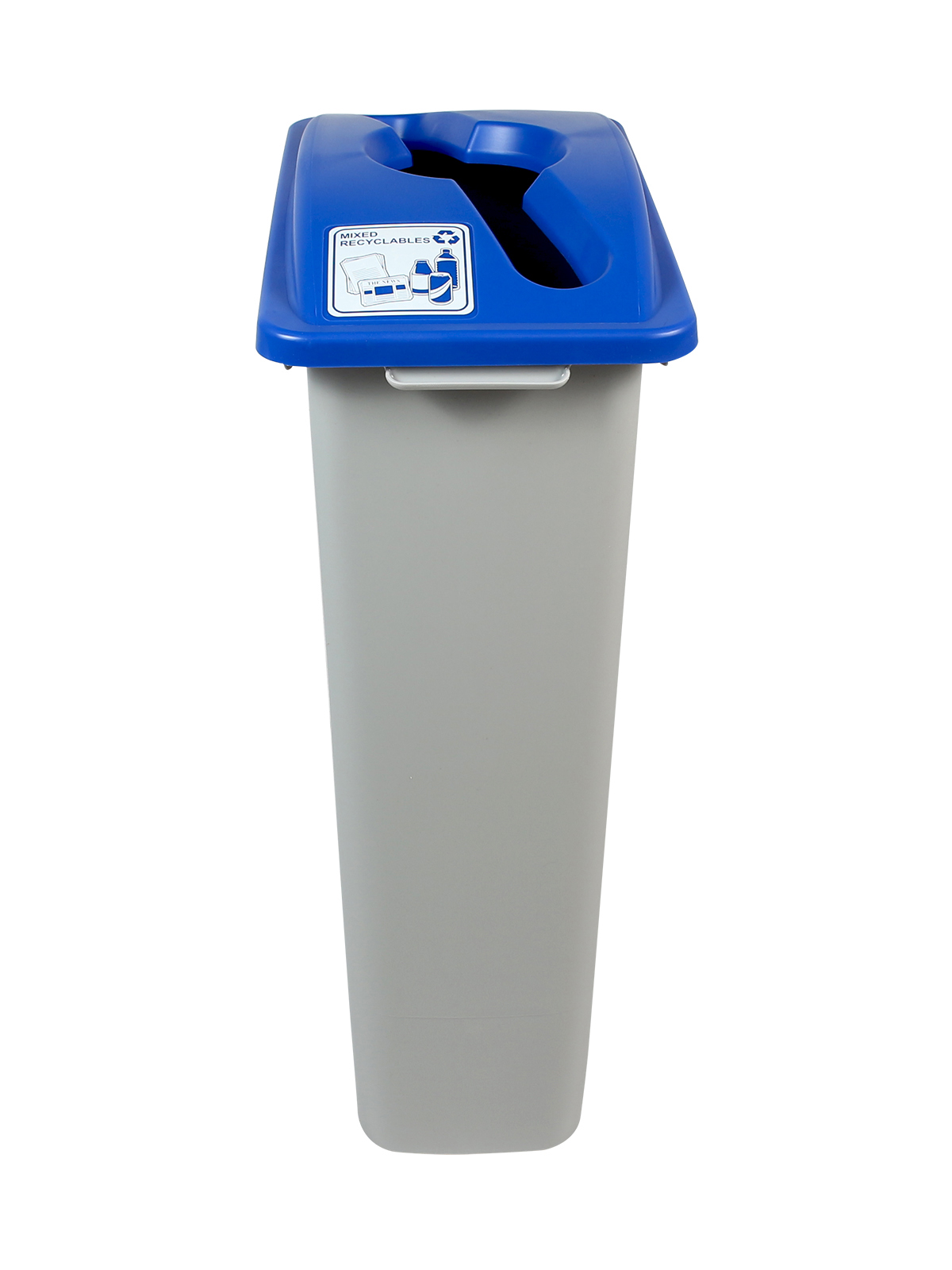 WASTE WATCHER - Single - Mixed Recyclables - Mixed - Grey-Blue