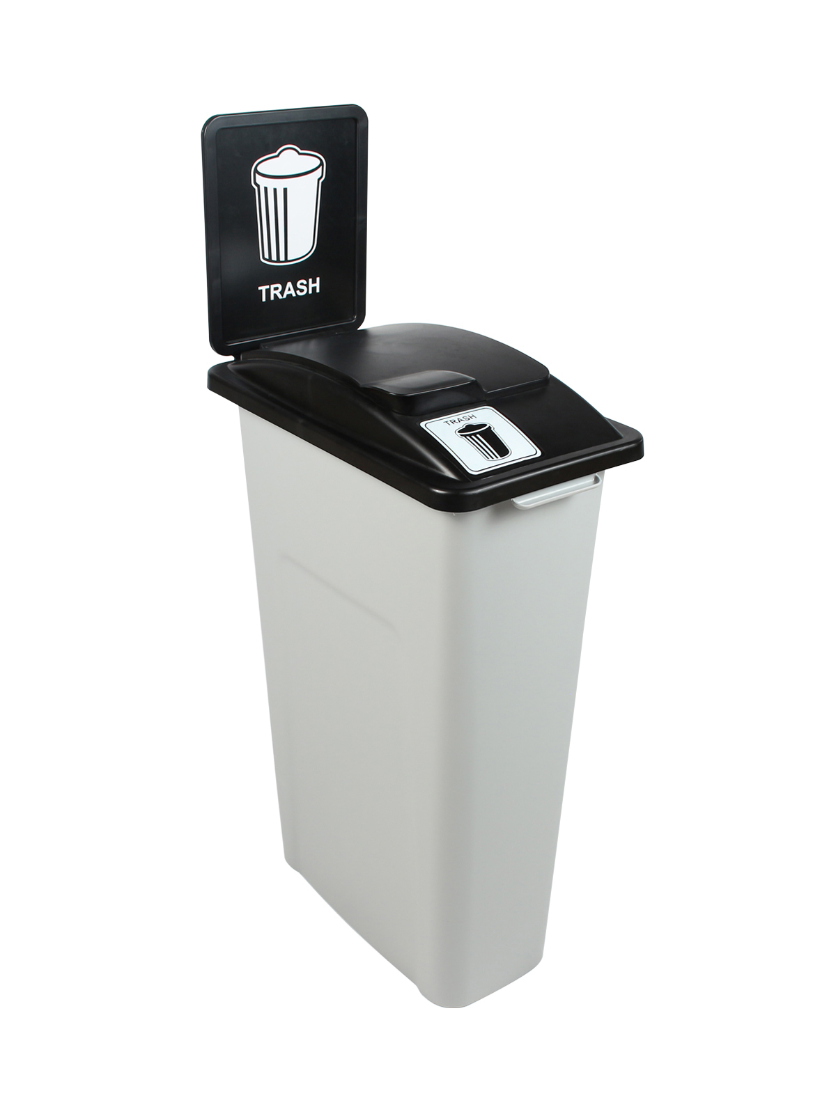 WASTE WATCHER - Single - Trash - Solid Lift - Grey-Black