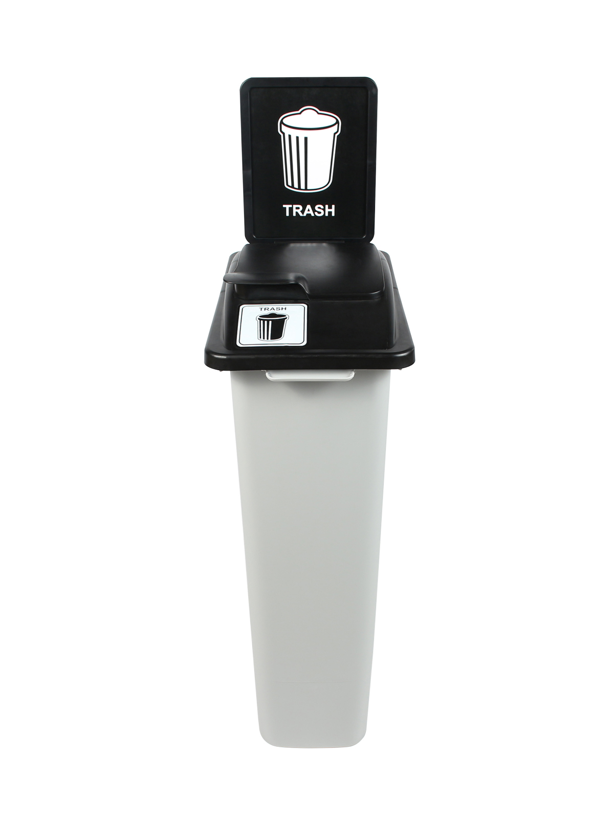 WASTE WATCHER - Single - Trash - Solid Lift - Grey-Black