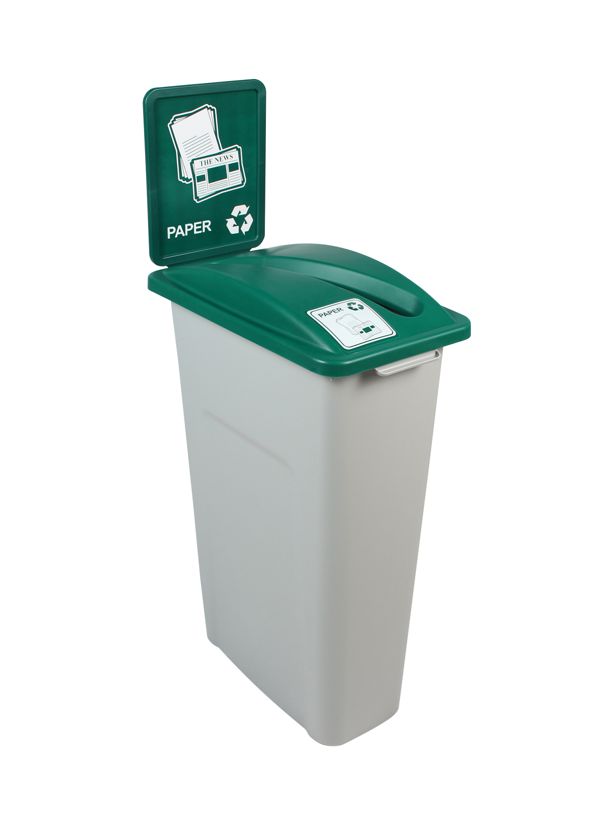 WASTE WATCHER - Single - Paper - Slot - Grey-Green