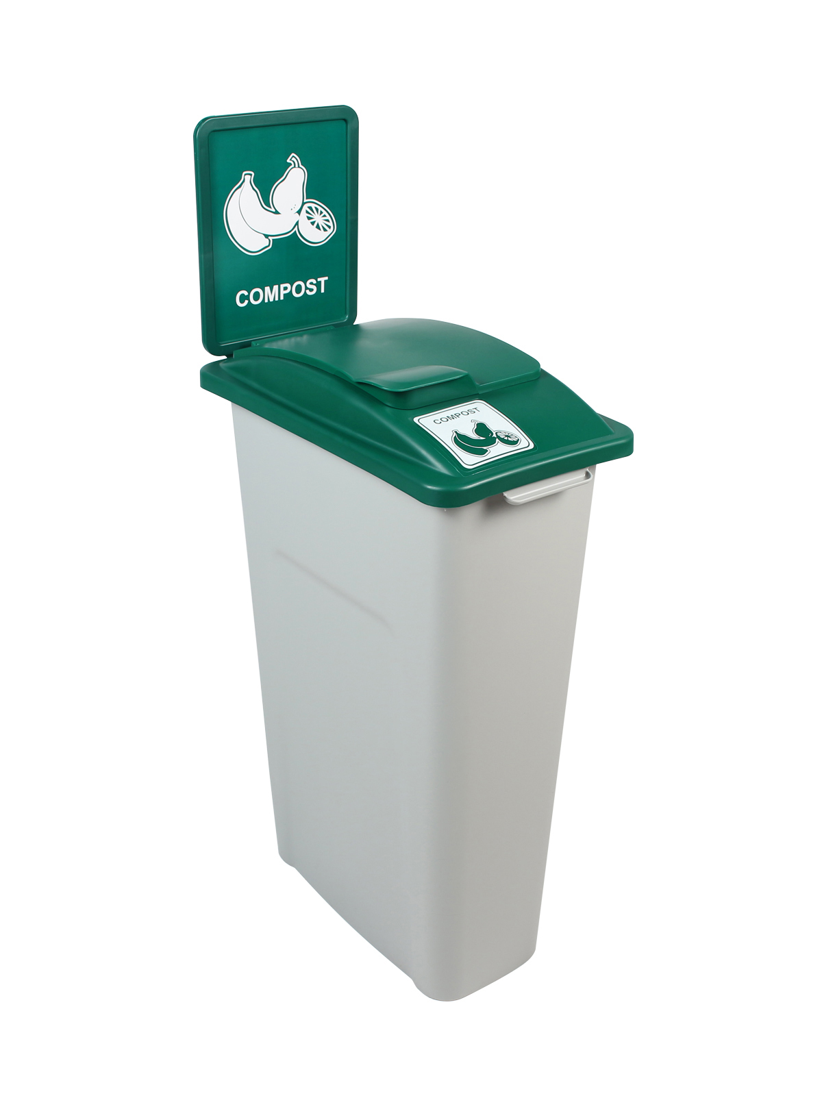 KIT WW 30 SINGLE - BDY/LID/SF - GRY/GRN COMPOST