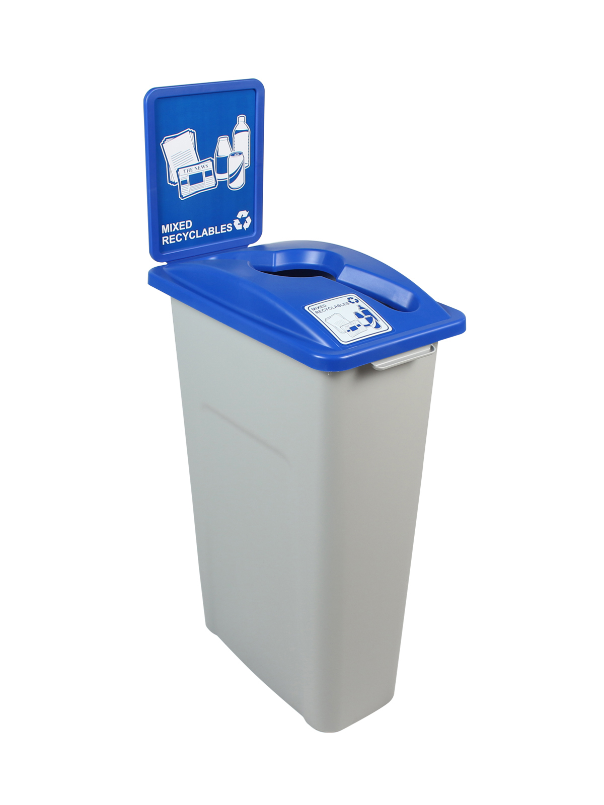 KIT WW 30 SINGLE - BDY/LID/SF - GRY/BLU MIXED RECYCLABLES