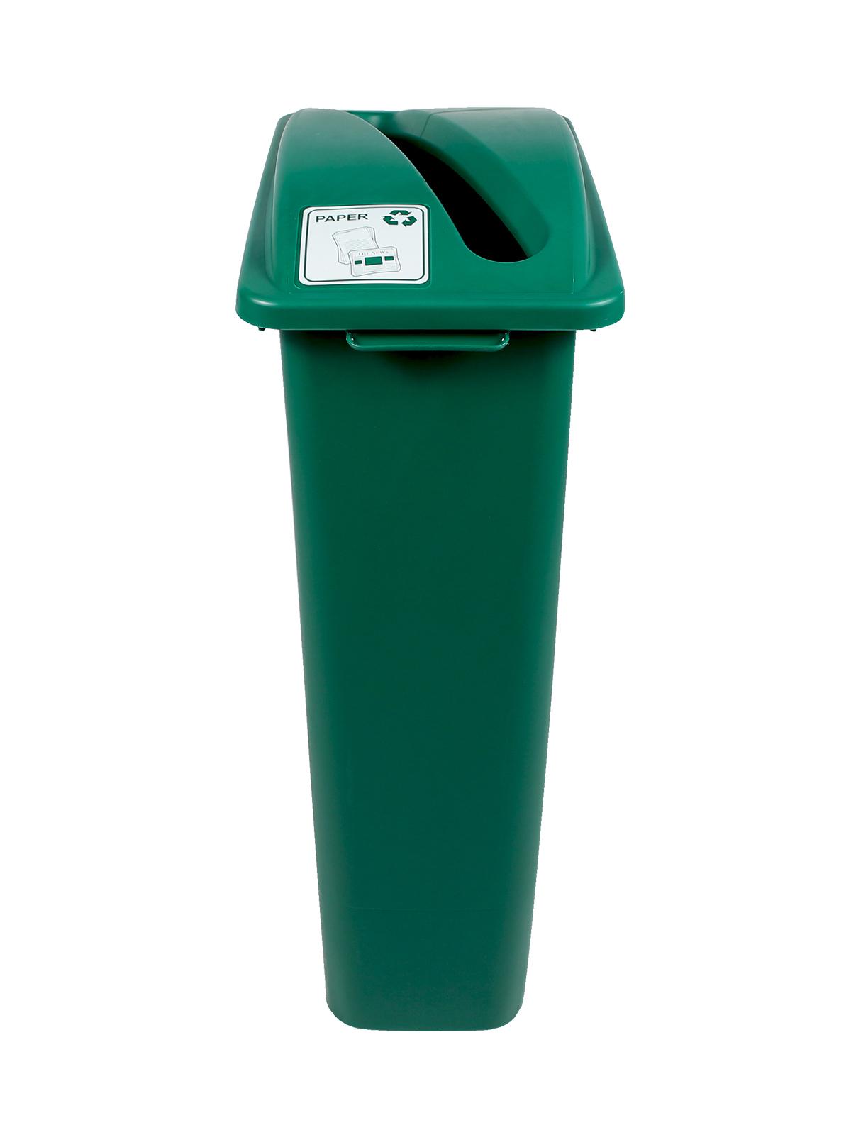 WASTE WATCHER - Single - Paper - Slot - Green