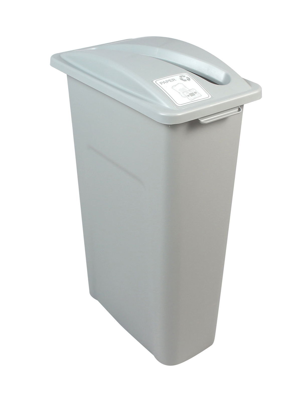 WASTE WATCHER - Single - Paper - Slot - Grey