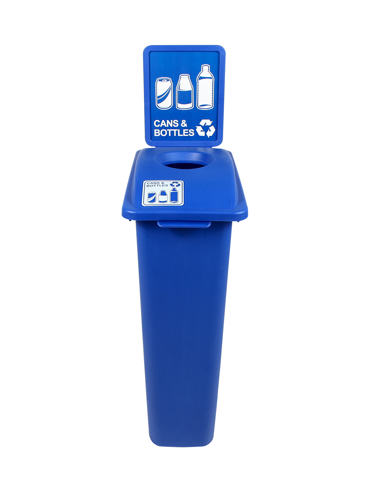 WASTE WATCHER - Single - Cans & Bottles - Circle - Blue