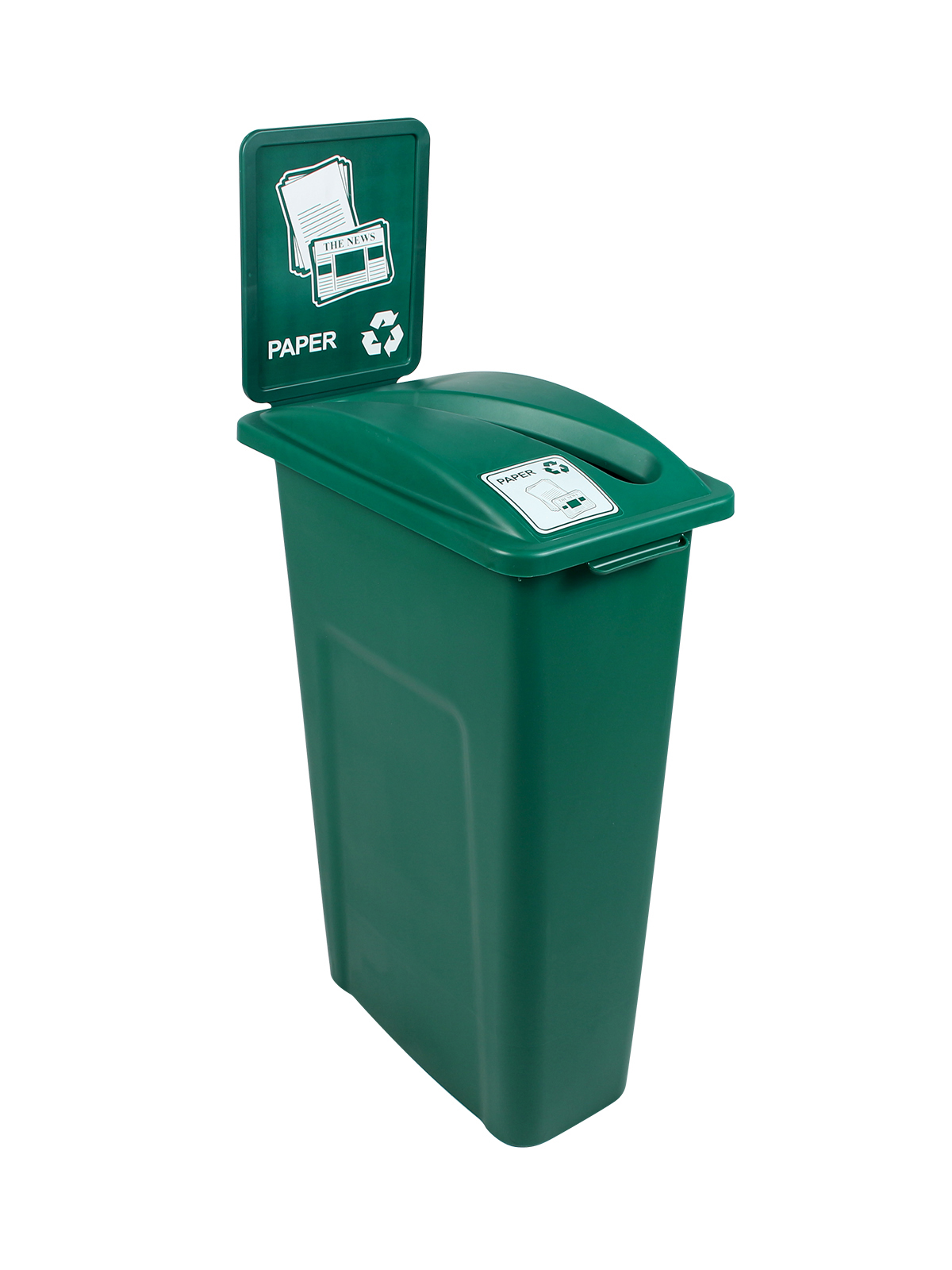 WASTE WATCHER - Single - Paper - Slot - Green