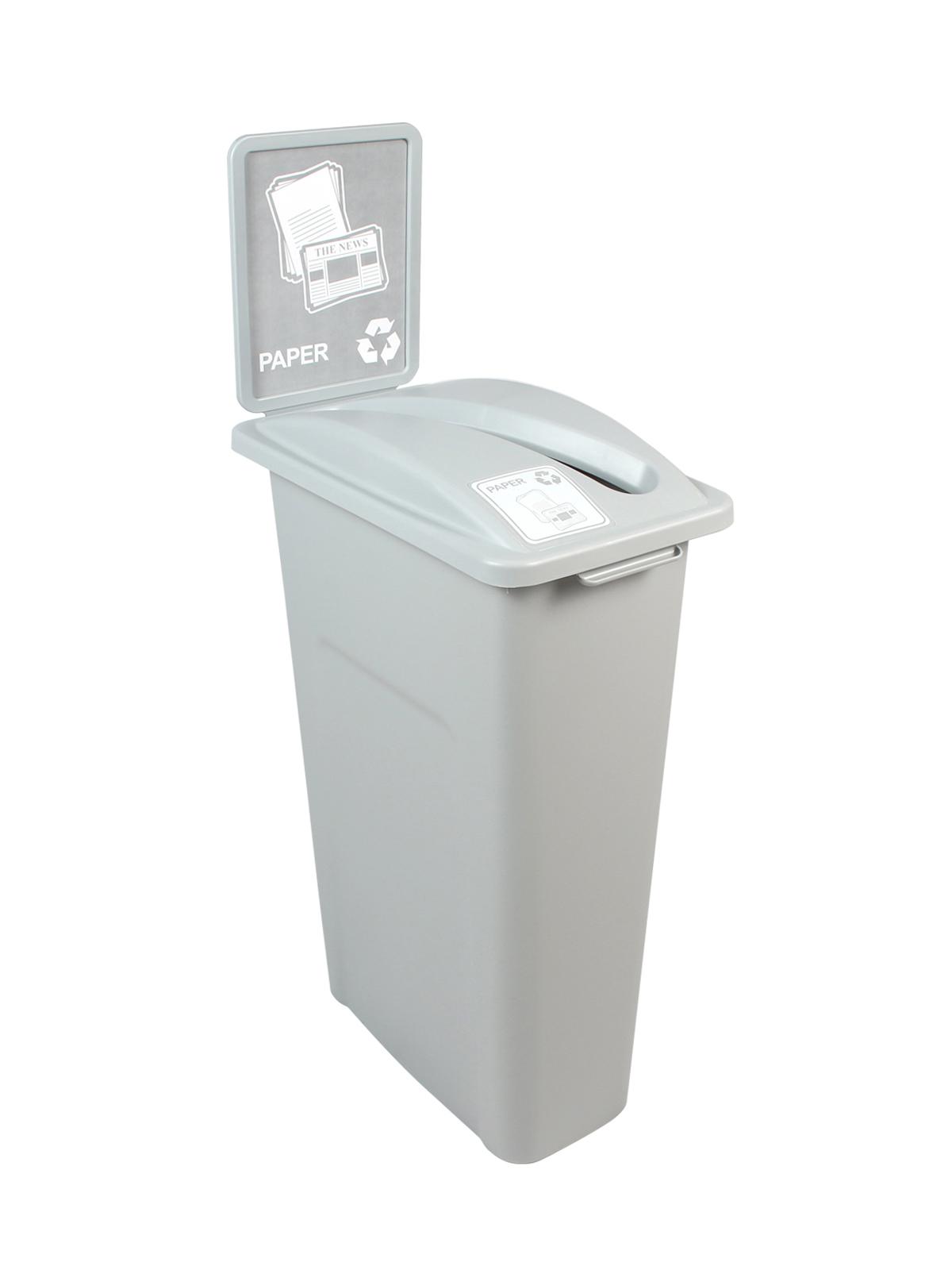 WASTE WATCHER - Single - Paper - Slot - Grey