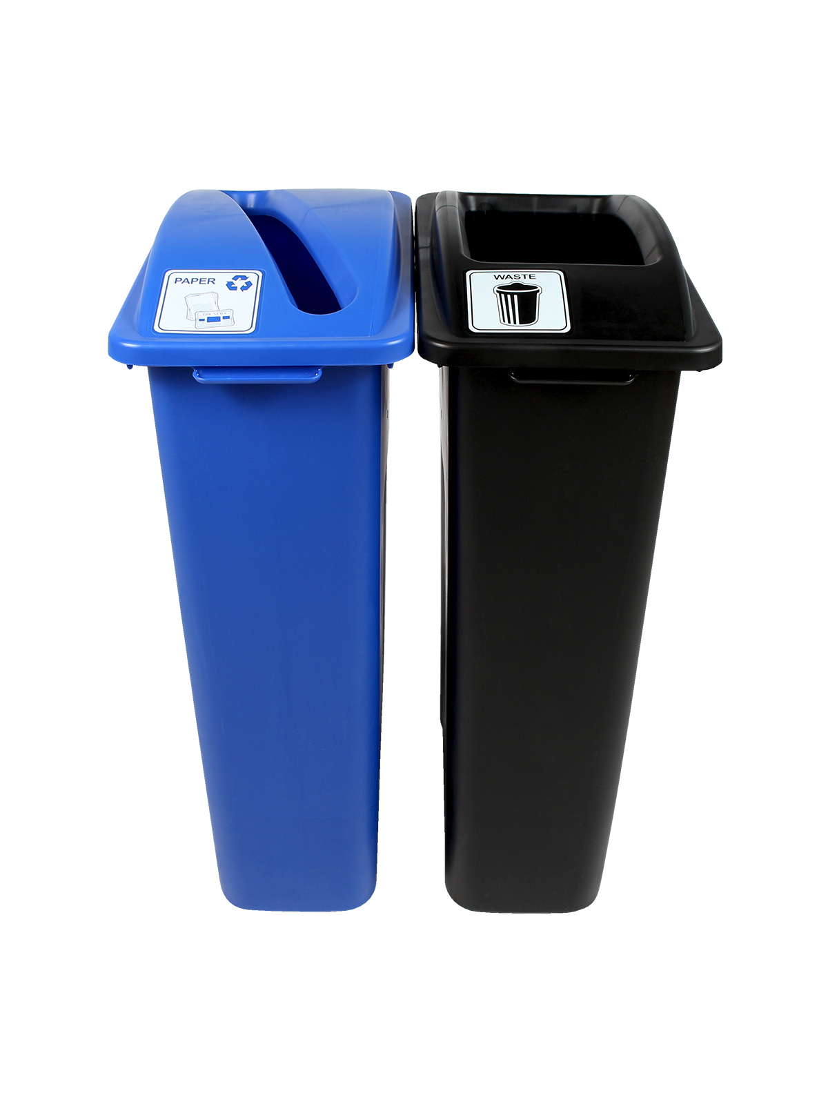 WASTE WATCHER - Double - Paper-Waste - Slot-Full - Blue-Black