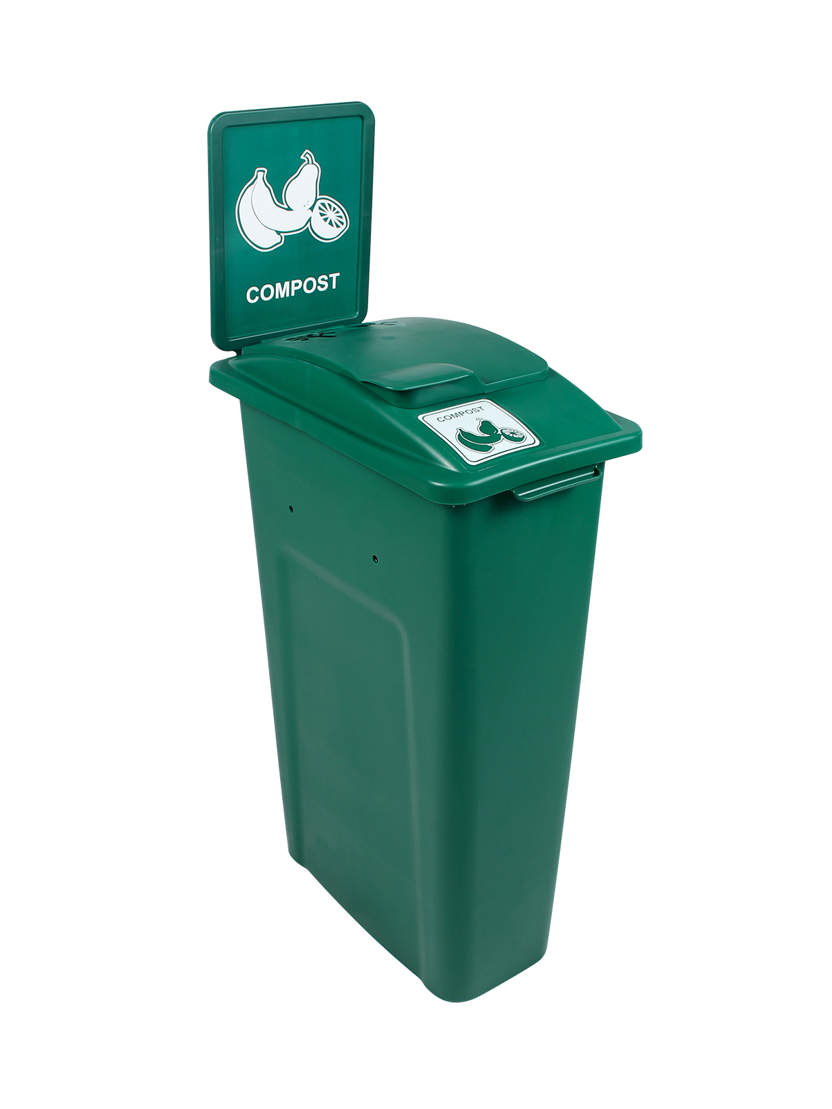 WASTE WATCHER - Single - Compost - Vented Lift - Dark Green
