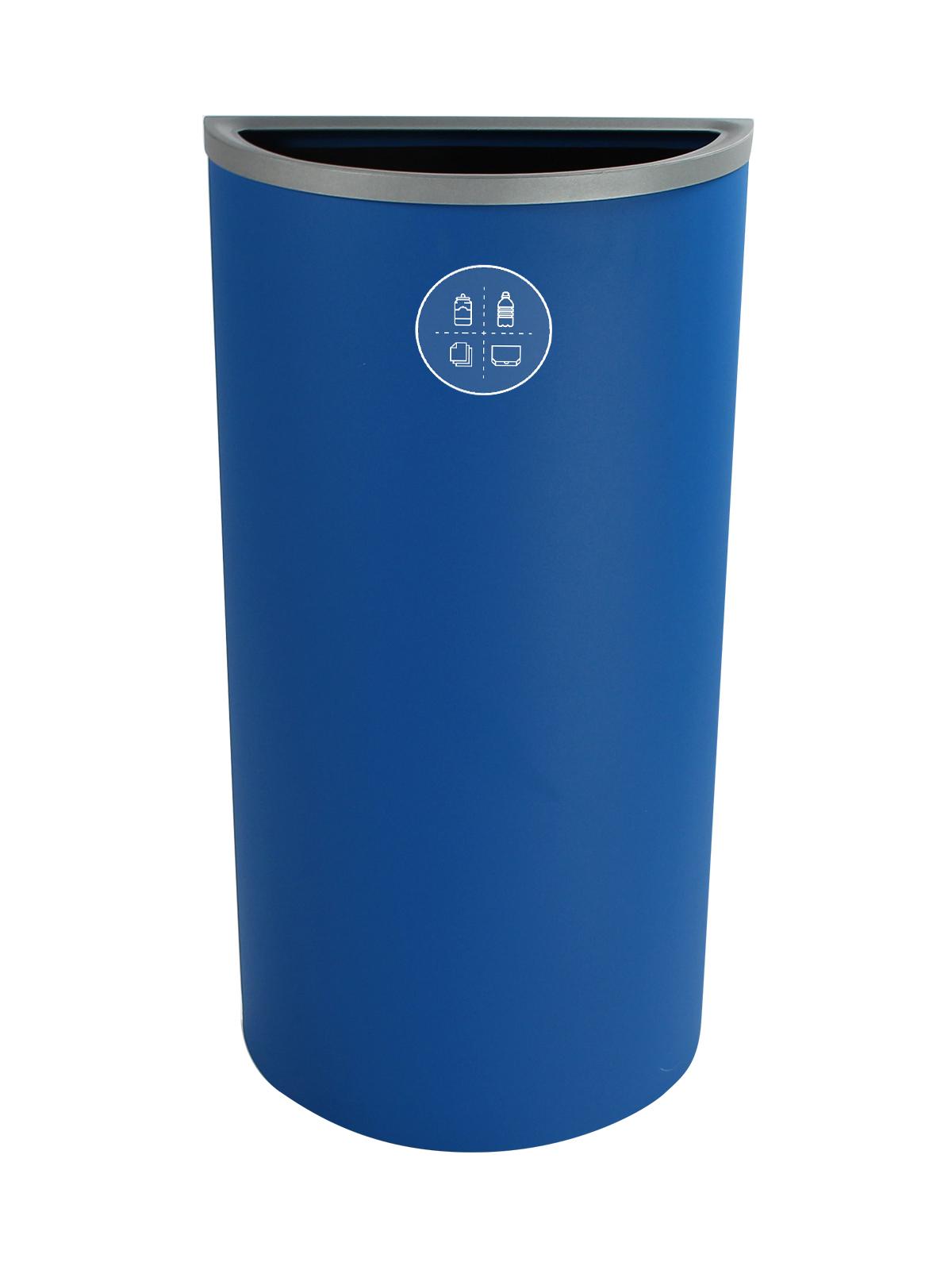 SPECTRUM - Single - Ellipse Slim - Mixed Recyclables - Full - Blue