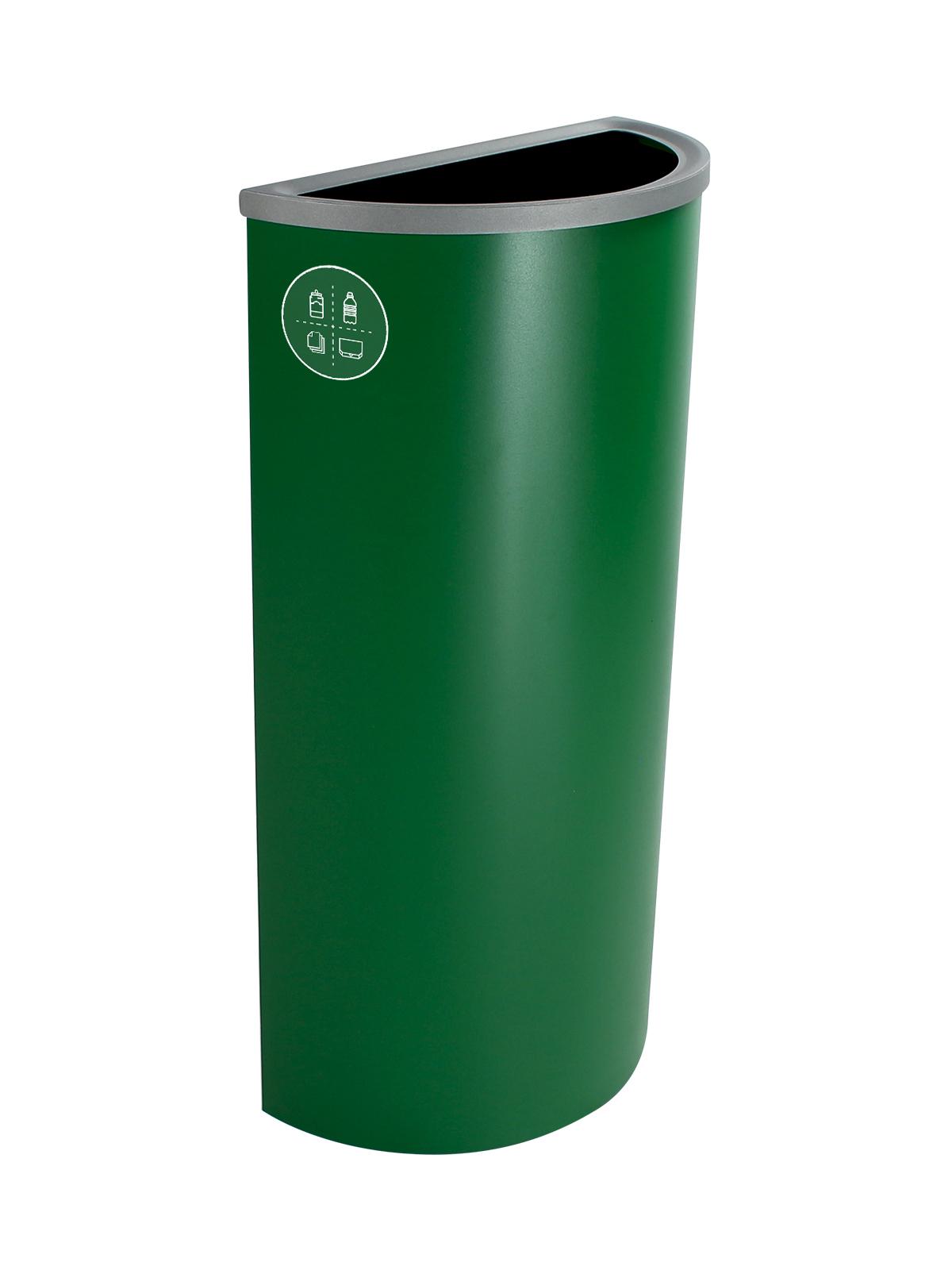 SPECTRUM - Single - Ellipse Slim - Mixed Recyclables - Full - Dark Green