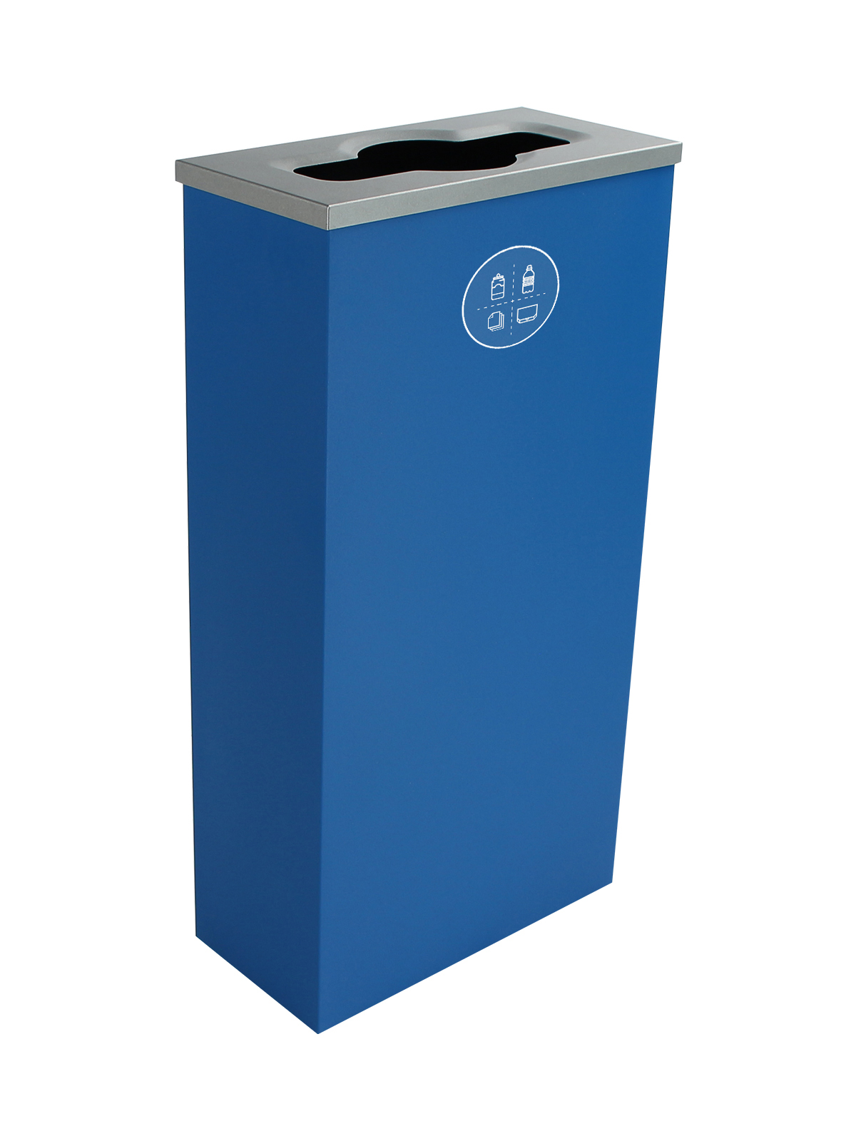 SPECTRUM - Single - Cube Slim - Mixed Recyclables - Mixed - Blue