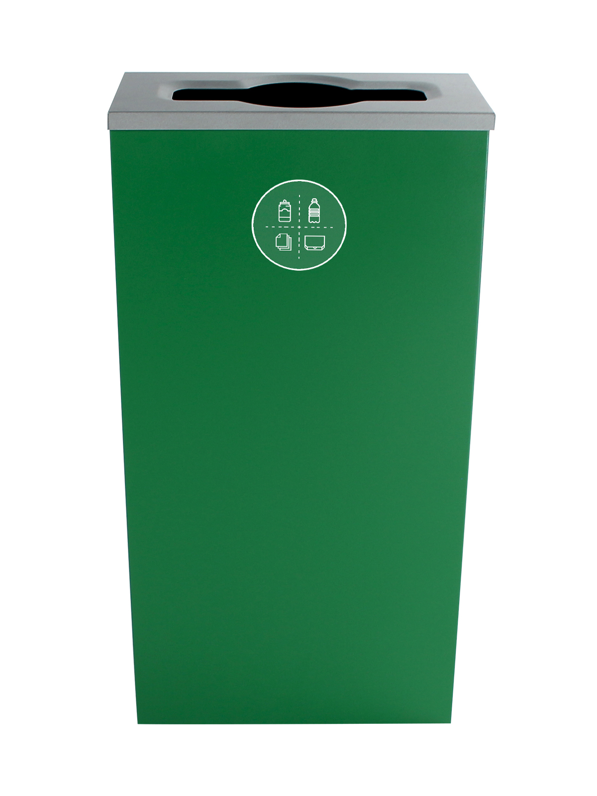 SPECTRUM - Single - Cube Slim - Mixed Recyclables - Mixed - Dark Green
