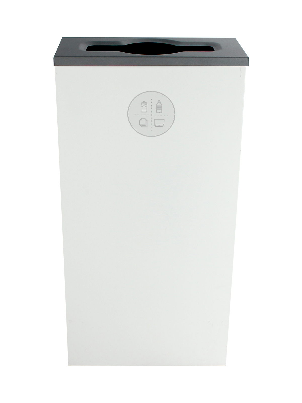 SPECTRUM - Single - Cube Slim - Mixed Recyclables - Mixed - White