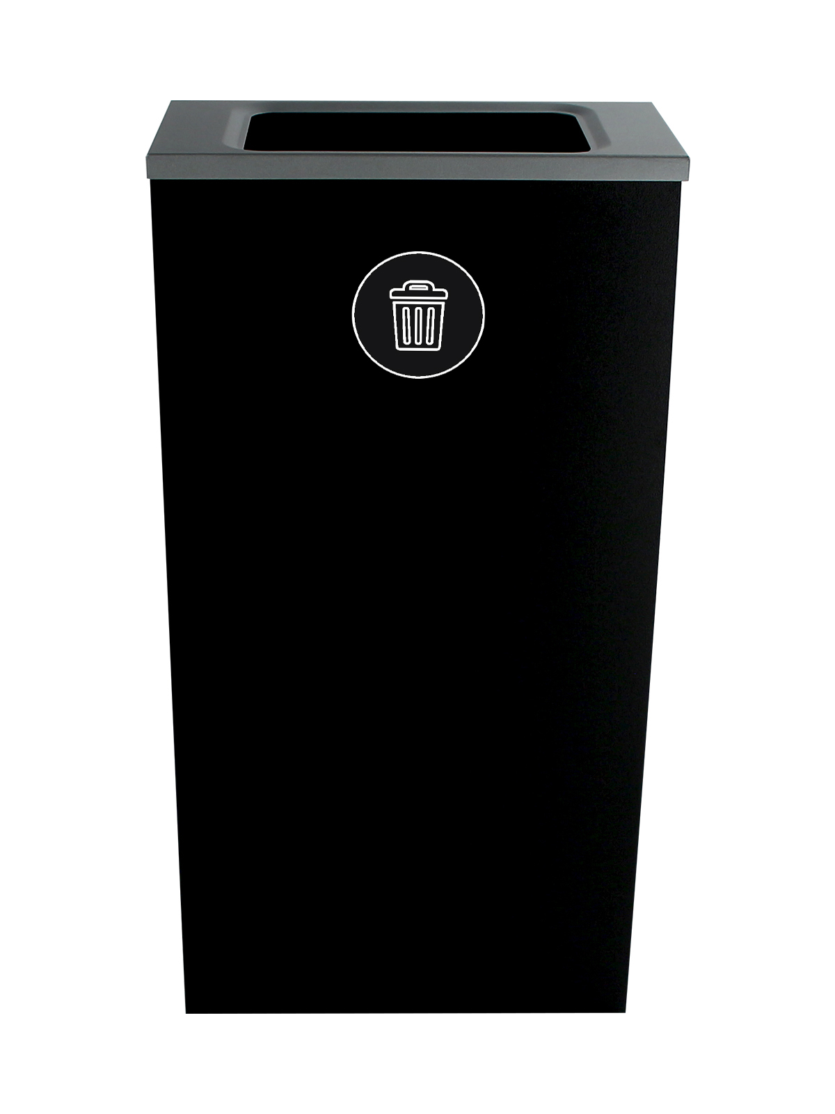 SPECTRUM - Single - Cube Slim - Waste - Full - Black
