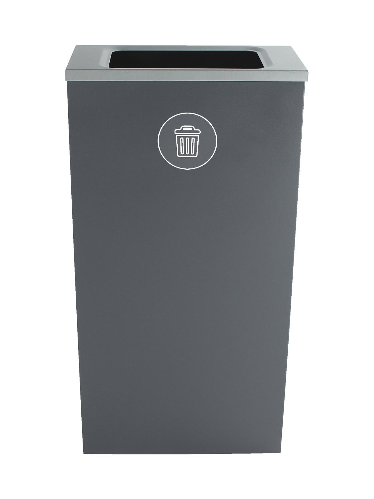 SPECTRUM - Single - Cube Slim - Waste - Full - Grey