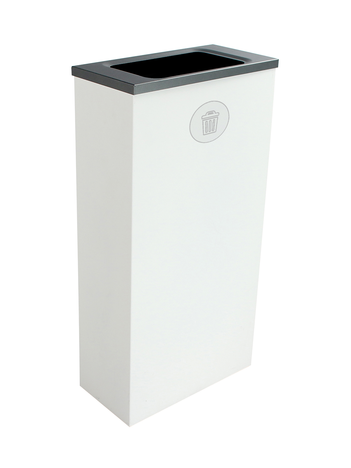 SPECTRUM - Single - Cube Slim - Waste - Full - White