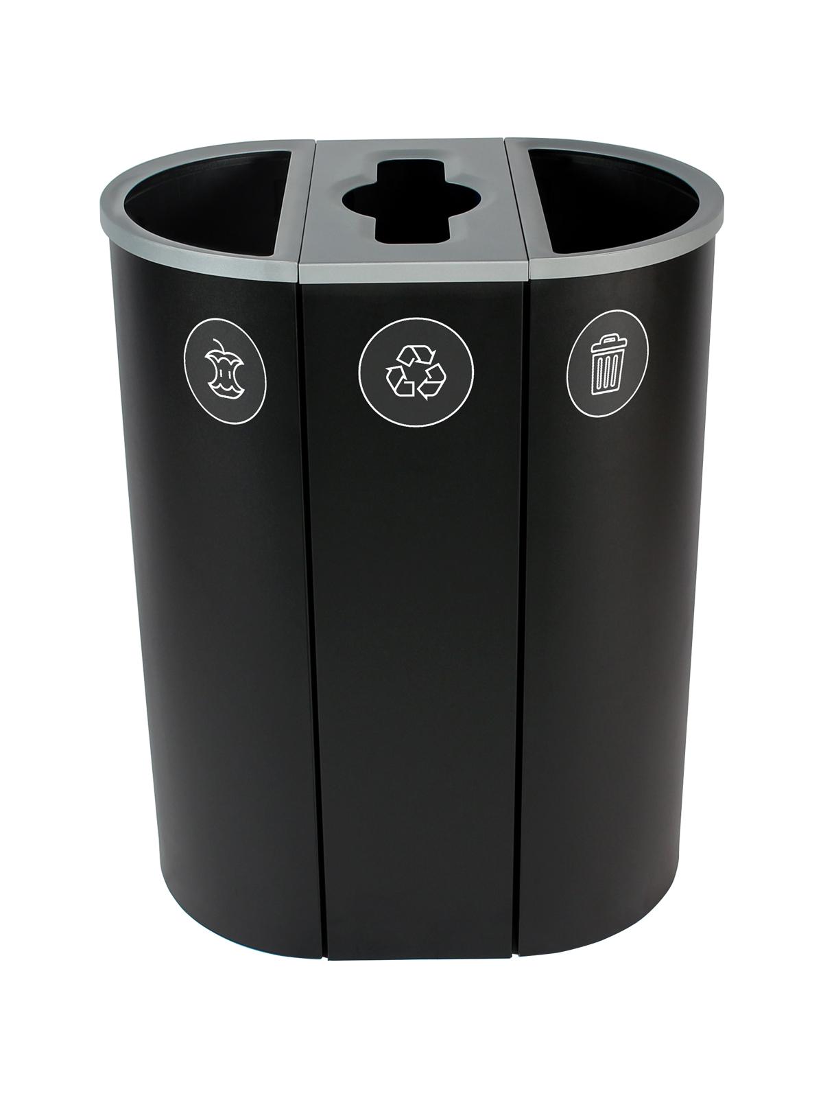 SPECTRUM - Triple - Organics-Mobius Loop-Waste - Full-Mixed-Full - Black