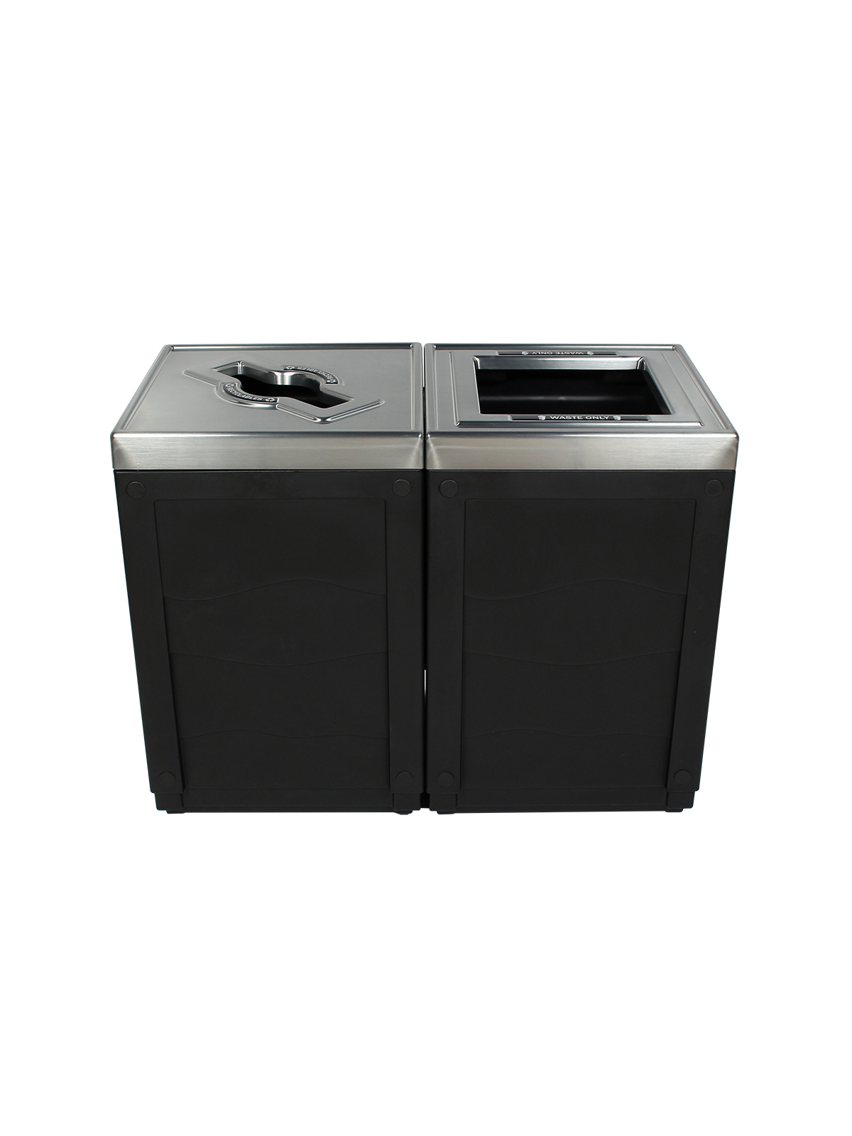 EVOLVE - Double - Recyclables-Waste - Mixed-Full - Black
